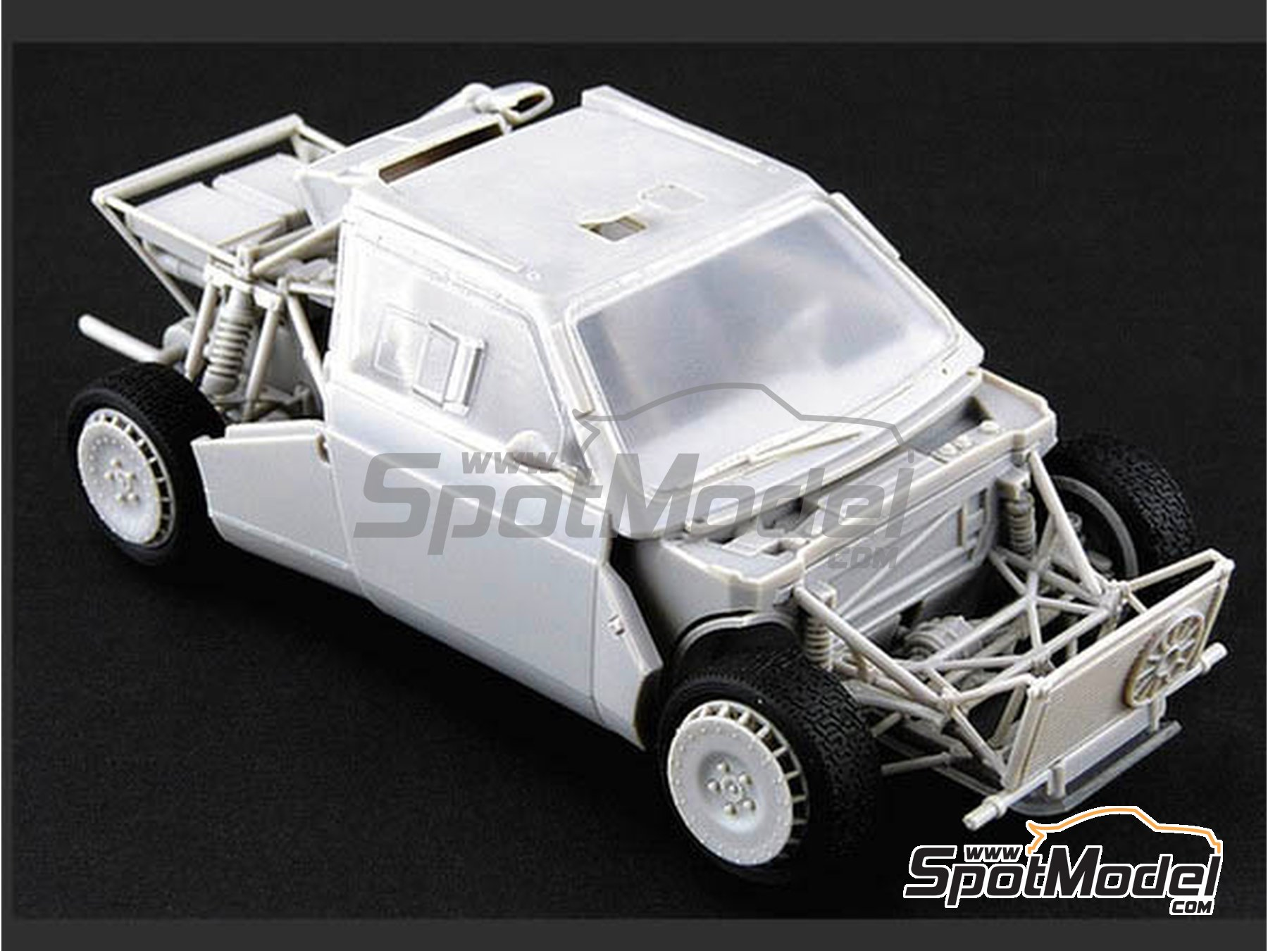 Image 7: Lancia Delta S4 Martini Racing Team - Montecarlo Rally - Rallye Automobile de Monte-Carlo 1986 | Model car kit in 1/24 scale manufactured by Beemax Model Kits (ref. B24020, also 09885)