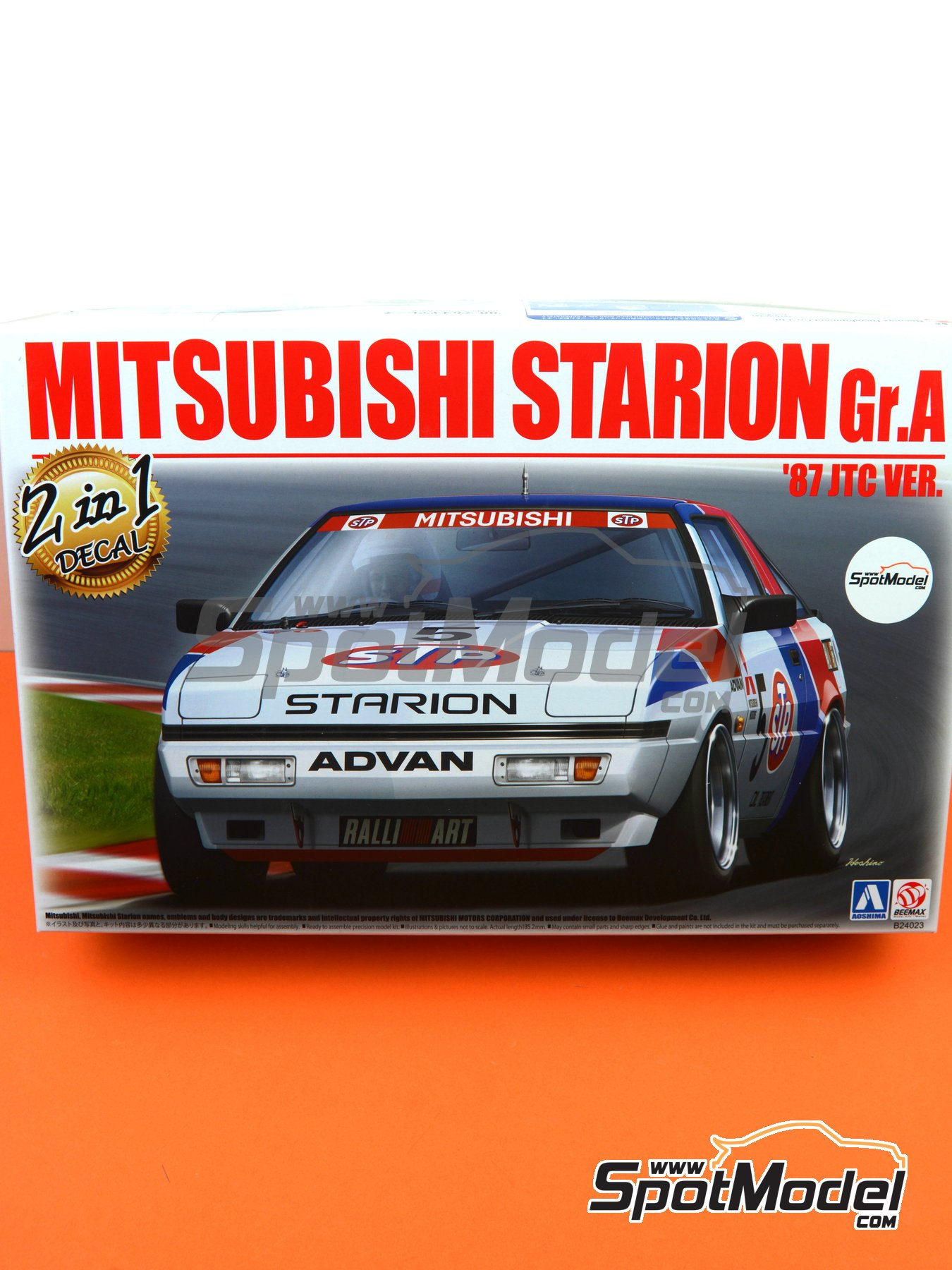 Mitsubishi Starion Rally Grupo A | Model car kit in 1/24 scale manufactured by Beemax Model Kits (ref.B24023) image