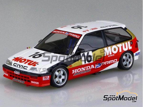 Image 2: Honda Civic EF3 Grupo A -  1988 | Maqueta de coche en escala1/24 fabricado por Beemax Model Kits (ref.B29009)