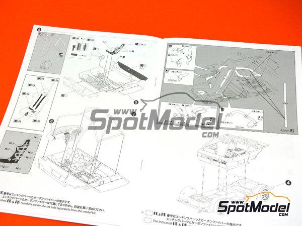 Image 14: Honda Civic EF3 Grupo A -  1988 | Maqueta de coche en escala1/24 fabricado por Beemax Model Kits (ref.B29009)