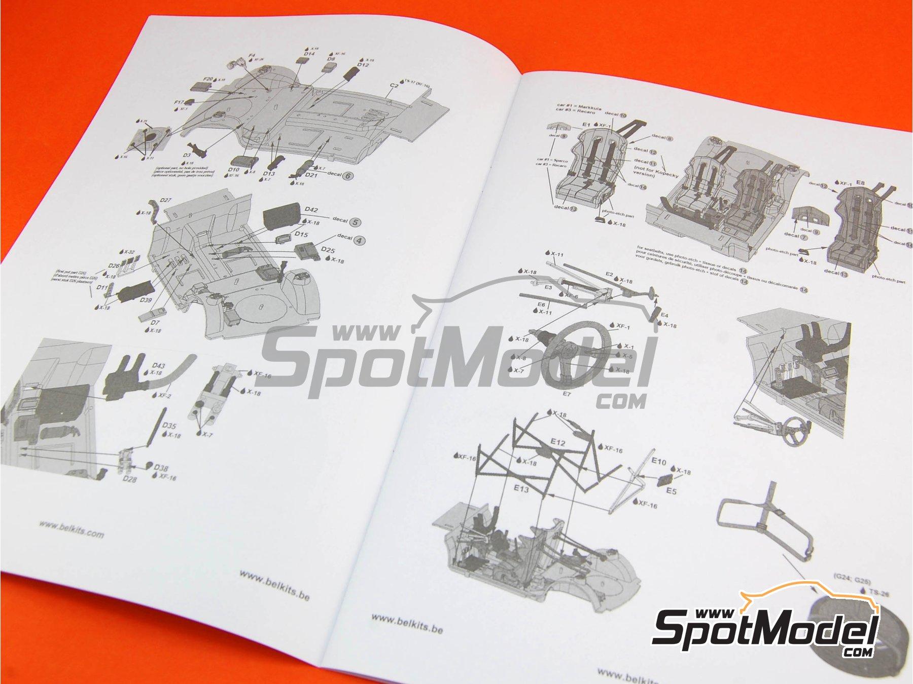 Image 2: Skoda Fabia S2000 Evo - Barum Czech Rally 2012 | Model car kit in 1/24 scale manufactured by Belkits (ref.BEL-004, also BEL004)