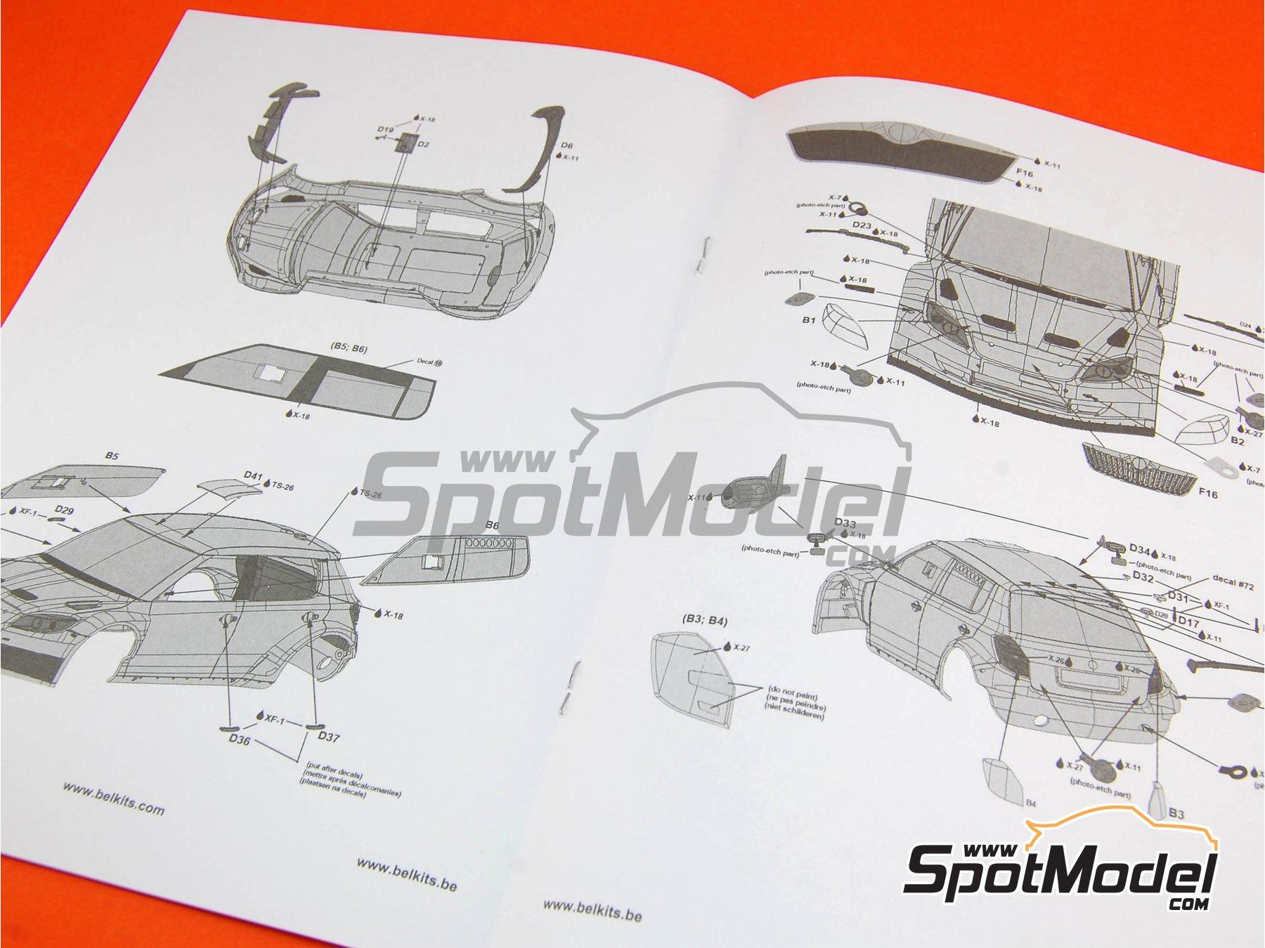 Image 3: Skoda Fabia S2000 Evo - Barum Czech Rally 2012 | Model car kit in 1/24 scale manufactured by Belkits (ref.BEL-004, also BEL004)