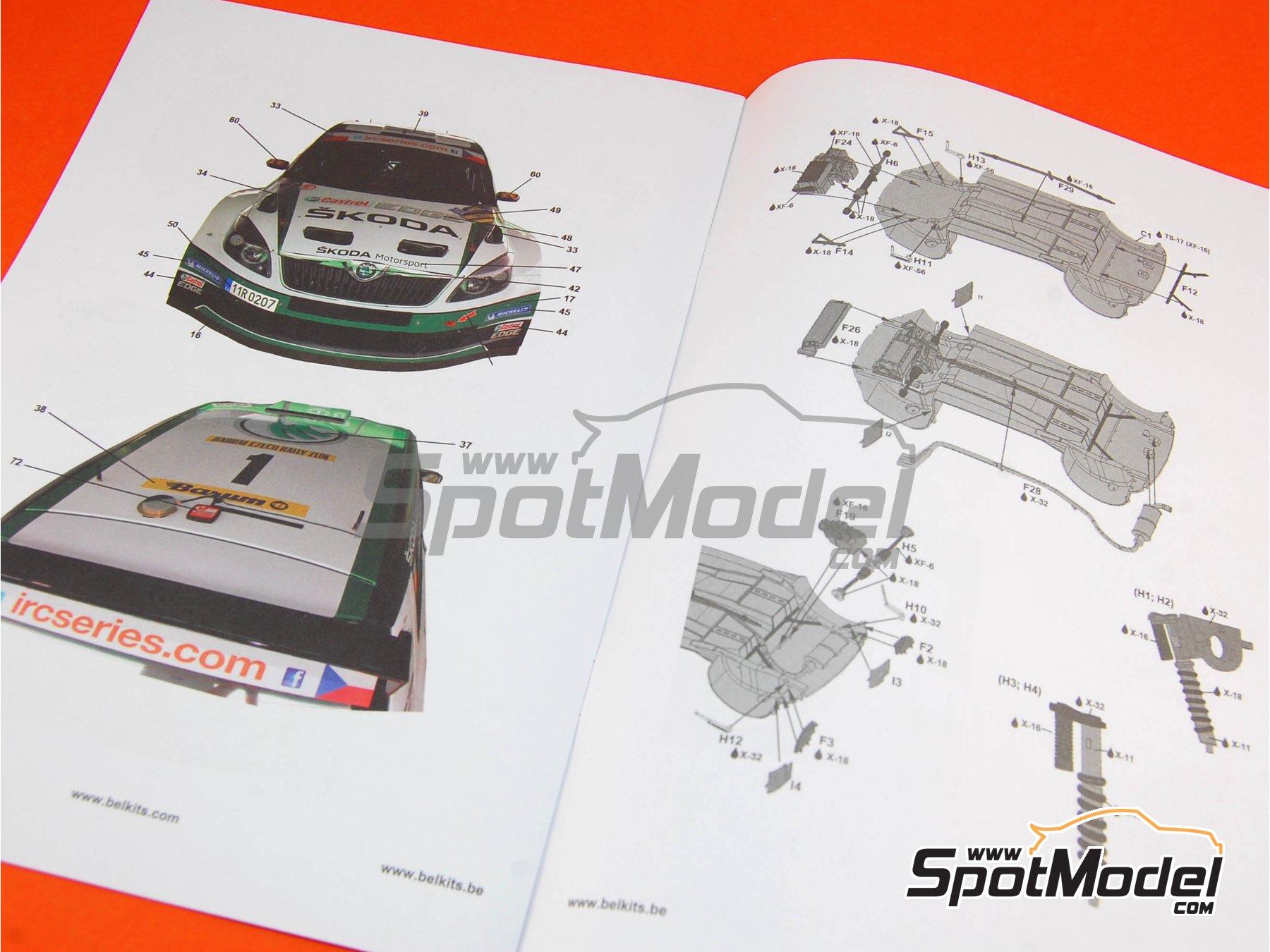 Image 4: Skoda Fabia S2000 Evo - Barum Czech Rally 2012 | Model car kit in 1/24 scale manufactured by Belkits (ref.BEL-004, also BEL004)