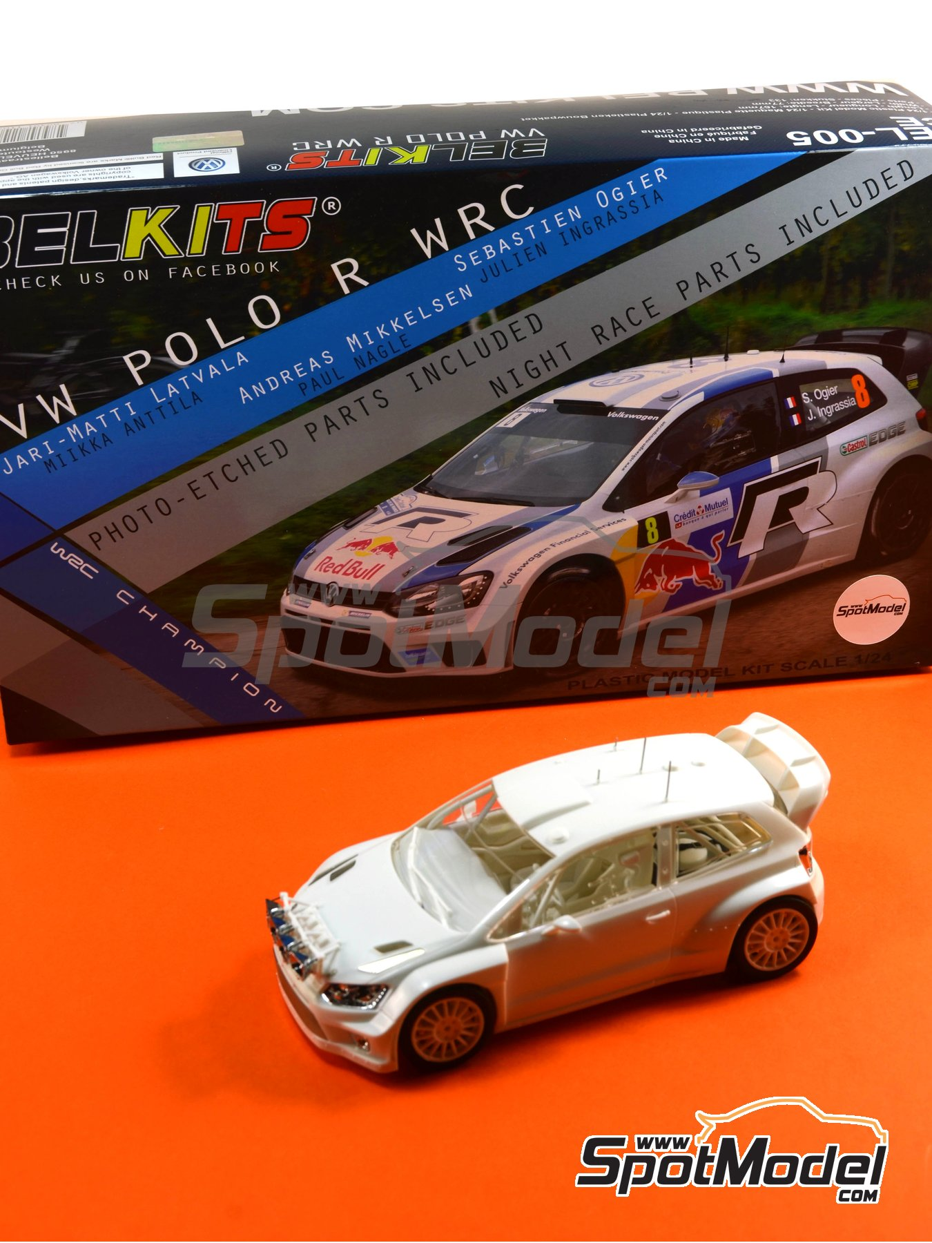 Volkswagen Polo R WRC - Alsace France Rally 2013 | Model car kit in 1/24 scale manufactured by Belkits (ref.BEL-005) image