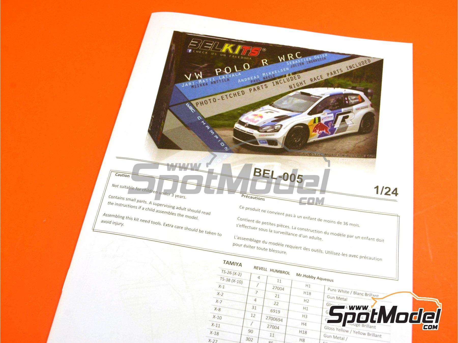 Image 23: Volkswagen Polo R WRC - Rally de Francia 2013   Maqueta de coche en escala1/24 fabricado por Belkits (ref.BEL-005)