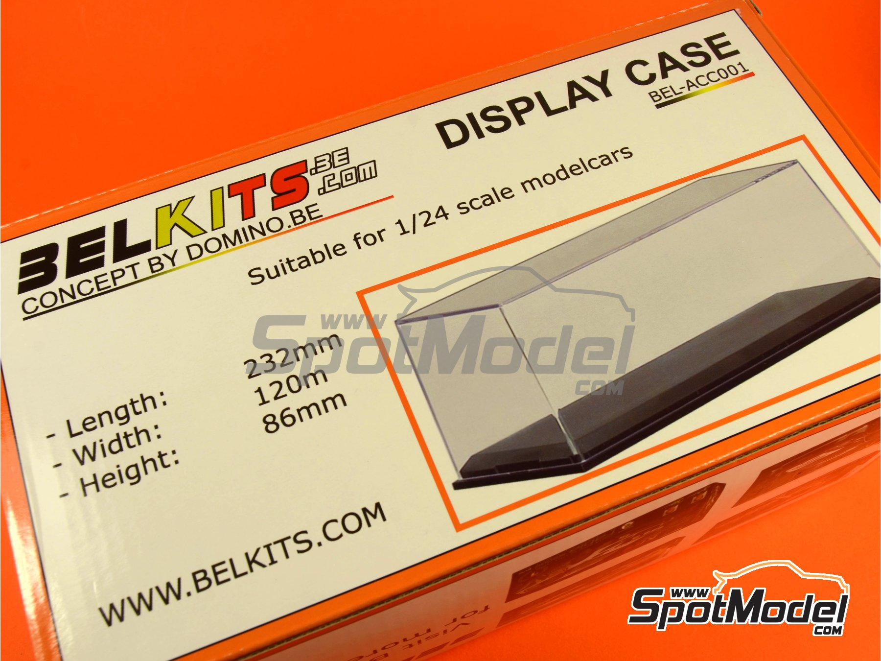 Image 5: Display case for 1/24 scale model cars | Display case in 1/24 scale manufactured by Belkits (ref.BEL-ACC001)