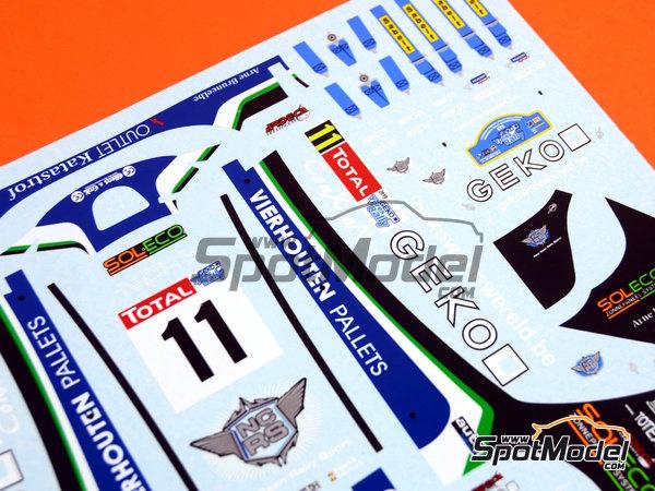 Image 5: Peugeot 207 S2000 Geko - Ypres Rally 2010 | Decals in 1/24 scale manufactured by Belkits (ref.BEL-DEC002)