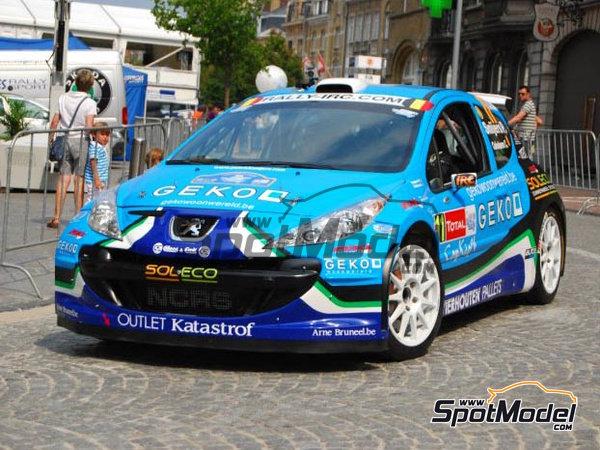 Image 9: Peugeot 207 S2000 Geko - Ypres Rally 2010 | Decals in 1/24 scale manufactured by Belkits (ref.BEL-DEC002)