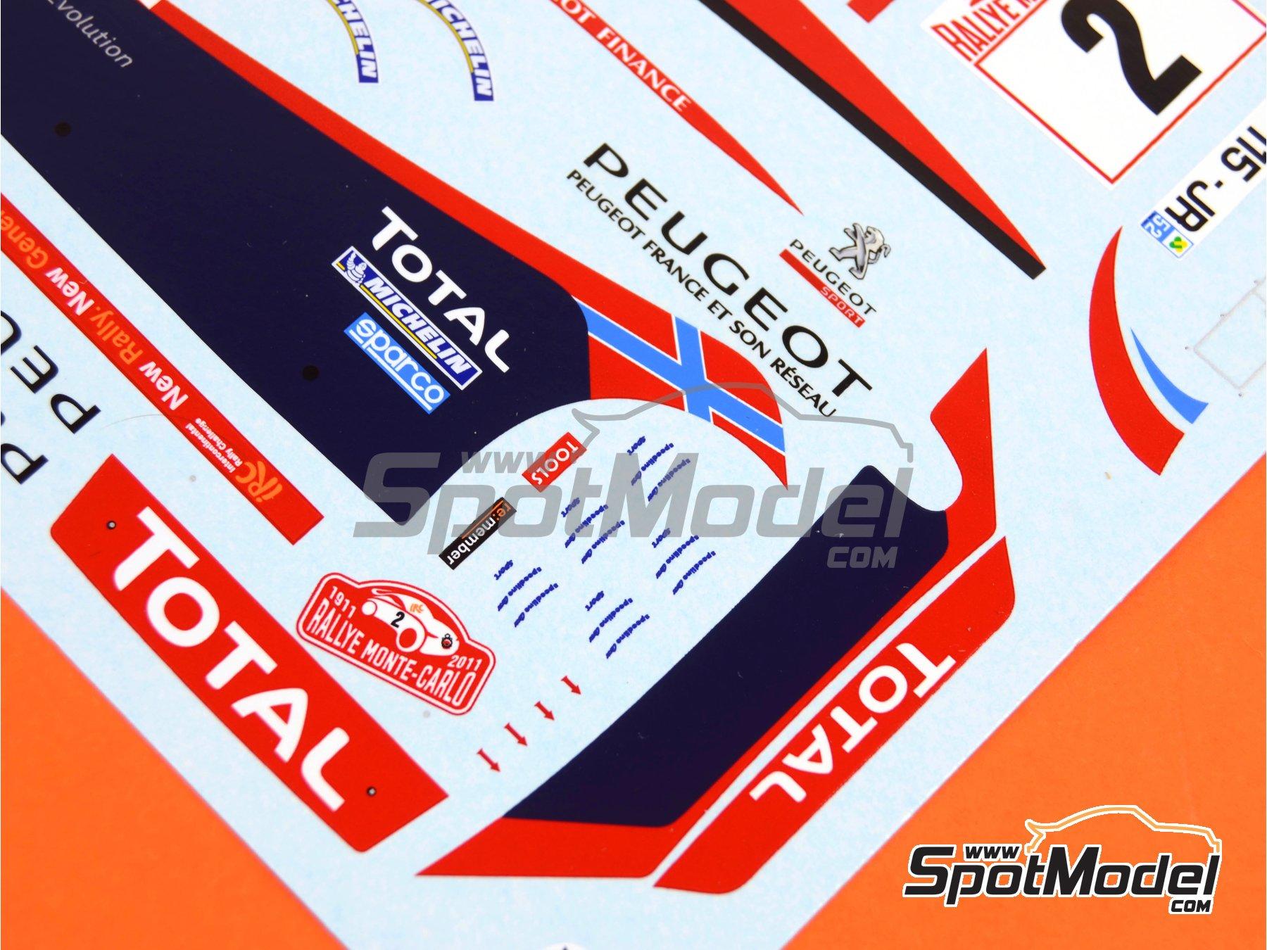 Image 6: Peugeot 207 S2000 Total - Rally de Montecarlo 2011 | Decoración en escala1/24 fabricado por Belkits (ref.BEL-DEC006)