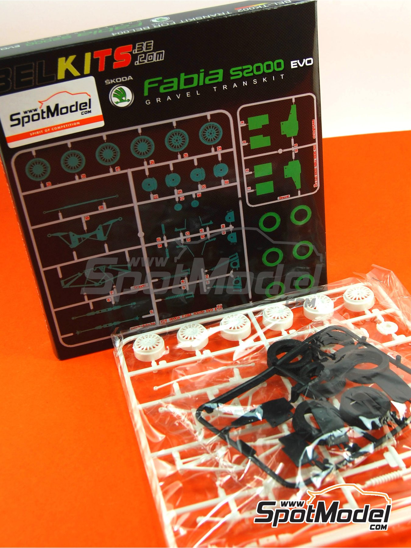 Skoda Fabia S2000 Evo - Gravel Set | Transkit in 1/24 scale manufactured by Belkits (ref.BEL-TK002) image