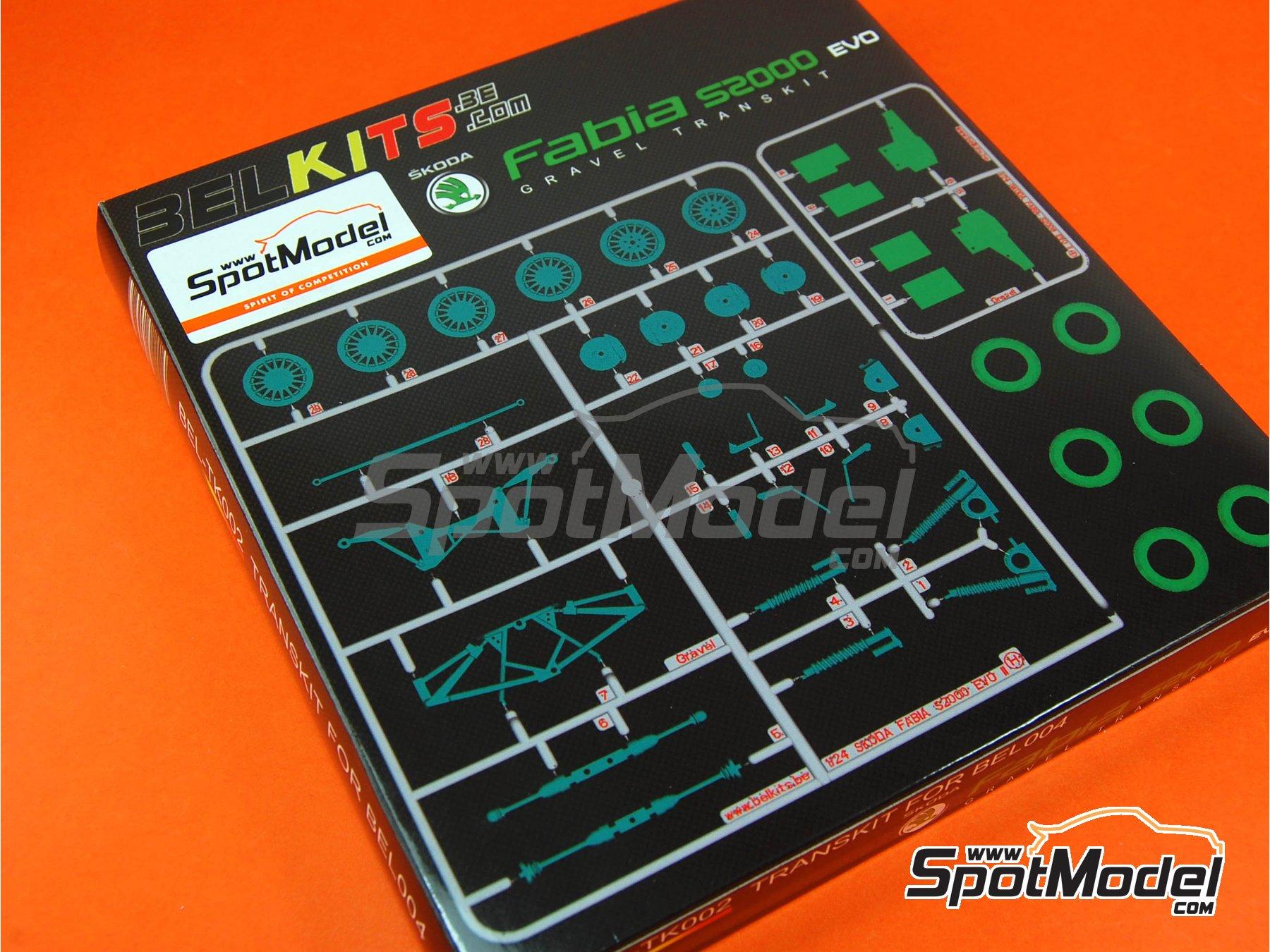 Image 1: Skoda Fabia S2000 Evo - Gravel Set | Transkit in 1/24 scale manufactured by Belkits (ref.BEL-TK002)