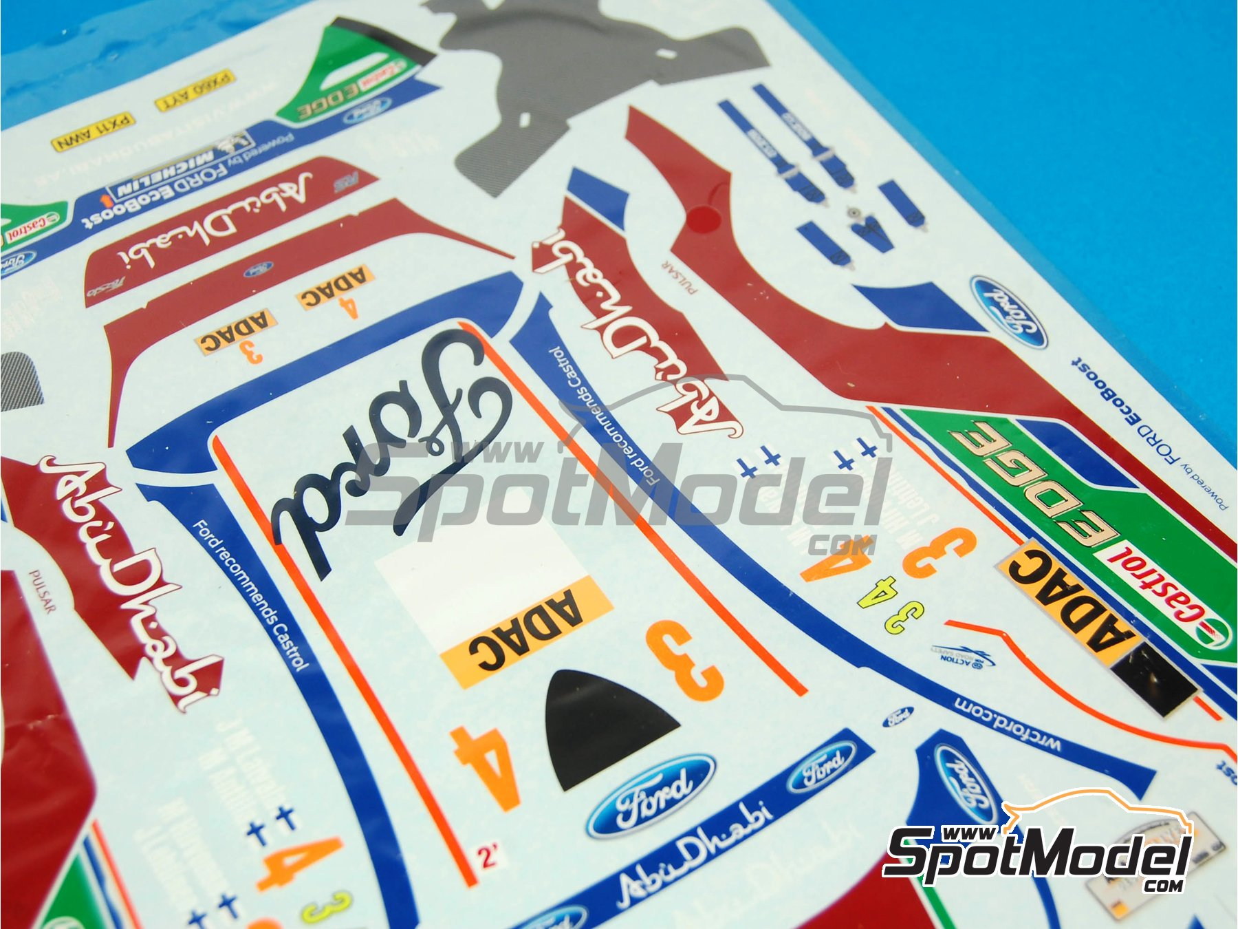 Image 2: Ford Fiesta RS WRC: Decals | Spare part in 1/24 scale manufactured by Belkits (ref.BEL003-DECALS)