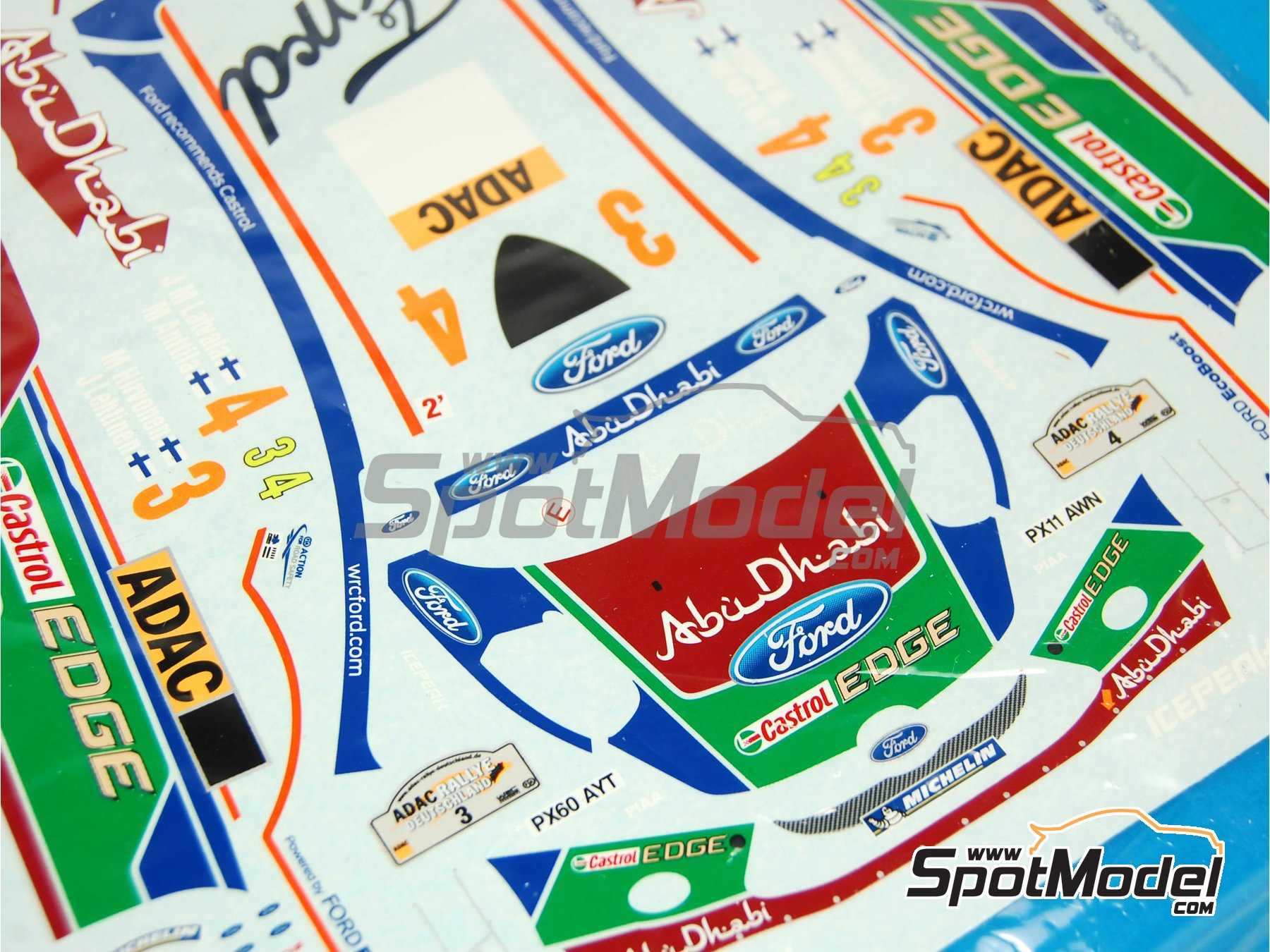 Image 3: Ford Fiesta RS WRC: Decals | Spare part in 1/24 scale manufactured by Belkits (ref.BEL003-DECALS)