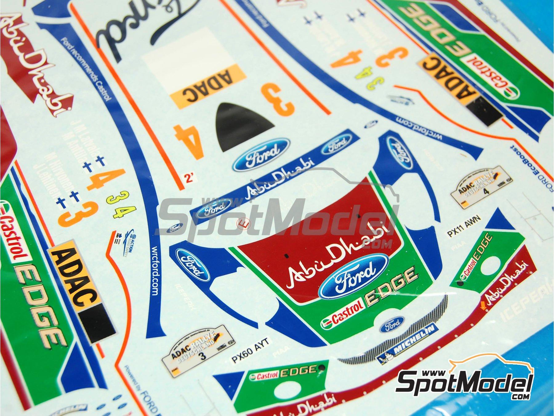 Image 3: Ford Fiesta RS WRC: Calcas | Pieza de reemplazo en escala1/24 fabricado por Belkits (ref.BEL003-DECALS)