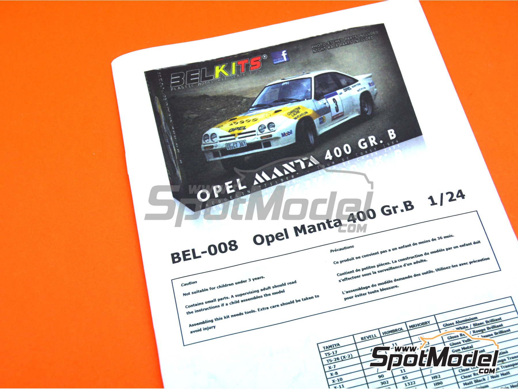 Image 21: Opel Manta 400 Group B Opel Euro Team - Tour de France Automobile 1984 | Model car kit in 1/24 scale manufactured by Belkits (ref. BEL008)