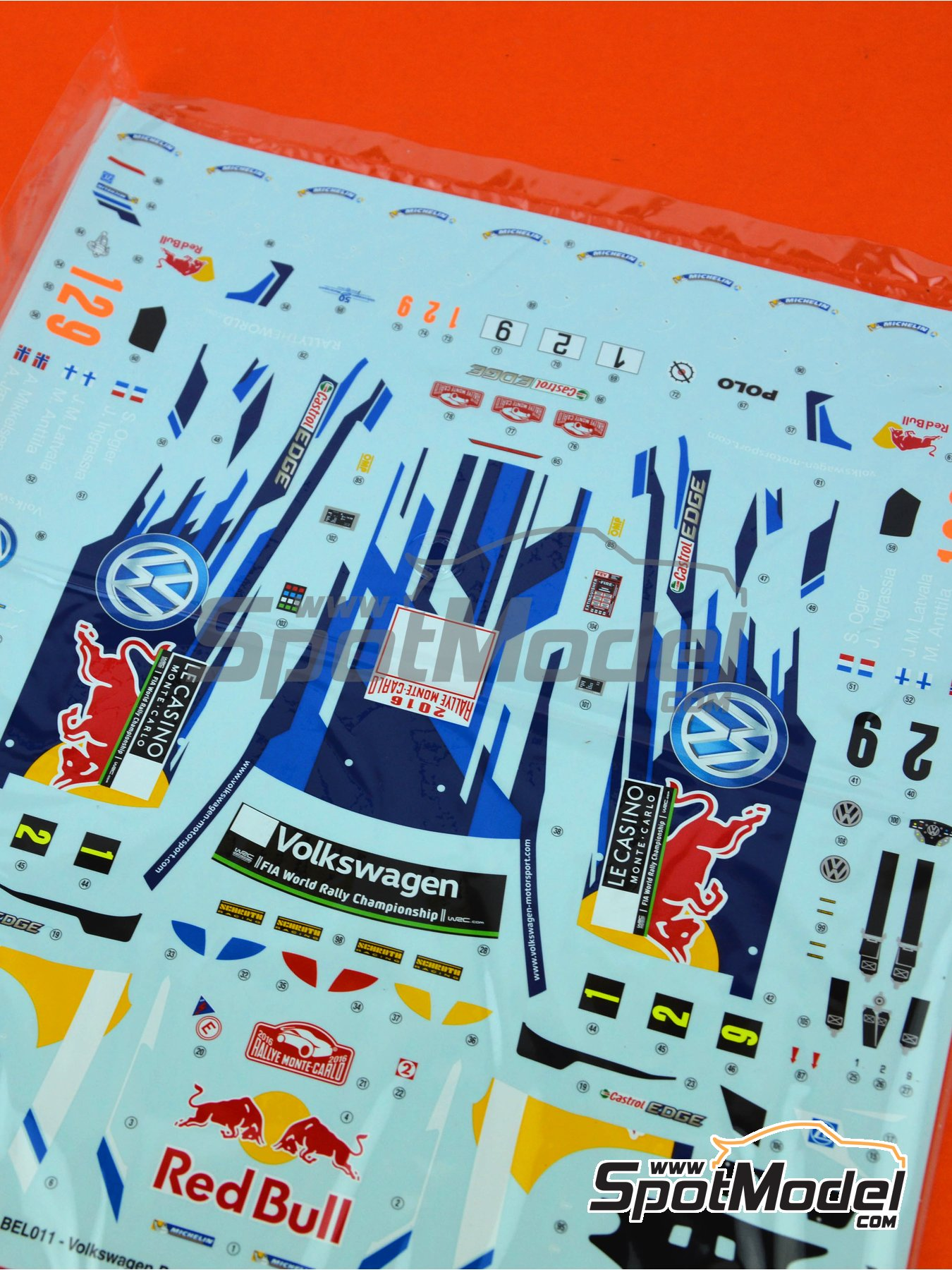 Volkswagen Polo R WRC: Decals | Spare part in 1/24 scale manufactured by Belkits (ref.BEL011-DECALS) image