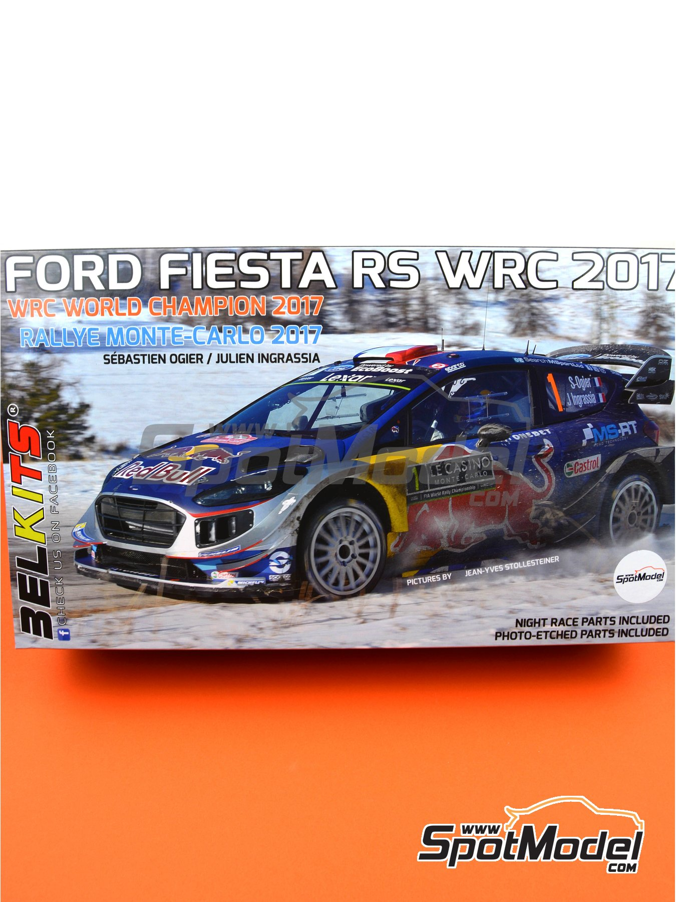 Ford Fiesta RS WRC Castrol - Montecarlo Rally 2017 | Model car kit in 1/24 scale manufactured by Belkits (ref. BEL012, also BEL-012) image