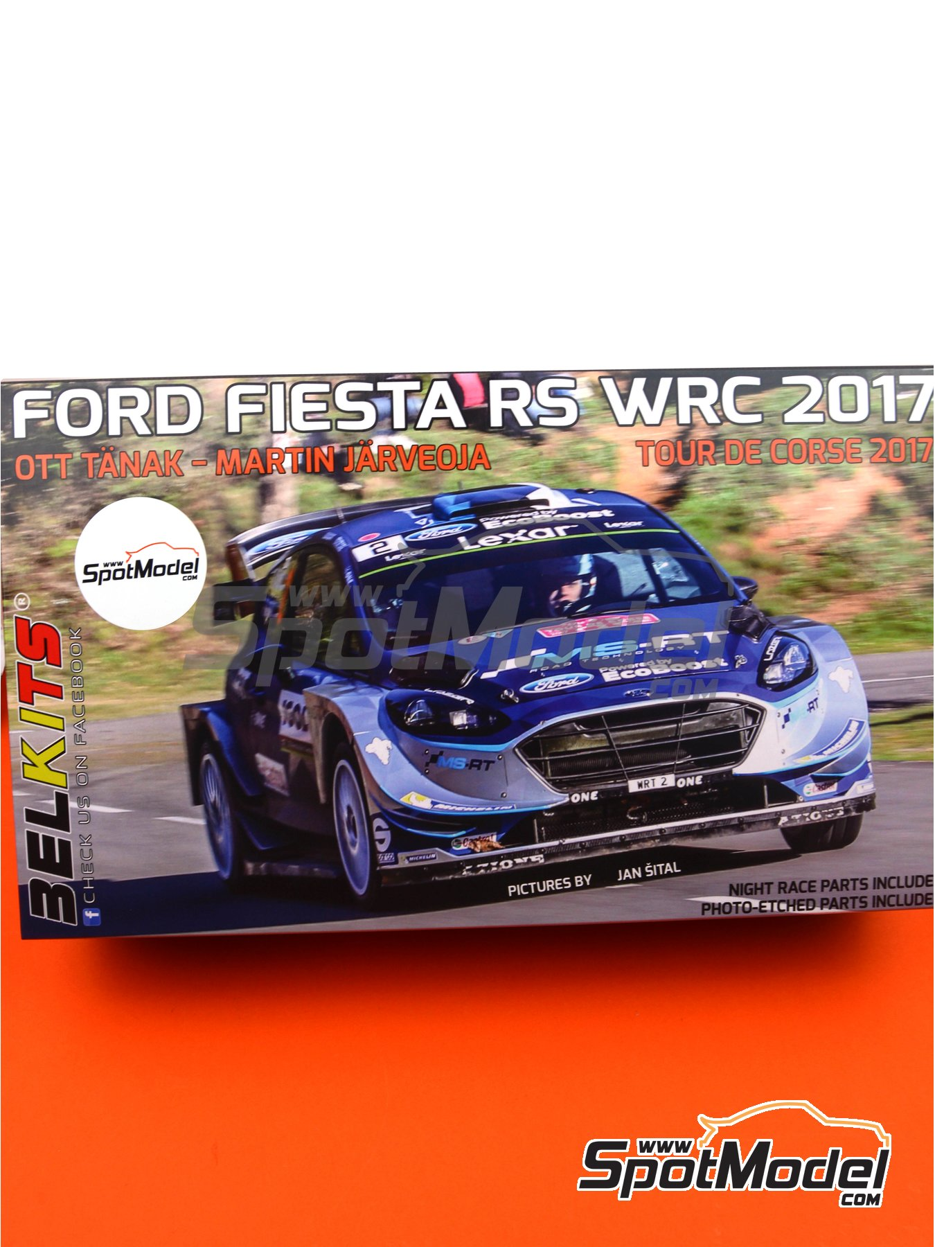 Ford Fiesta RS WRC -  2017 | Model car kit in 1/24 scale manufactured by Belkits (ref. BEL013) image