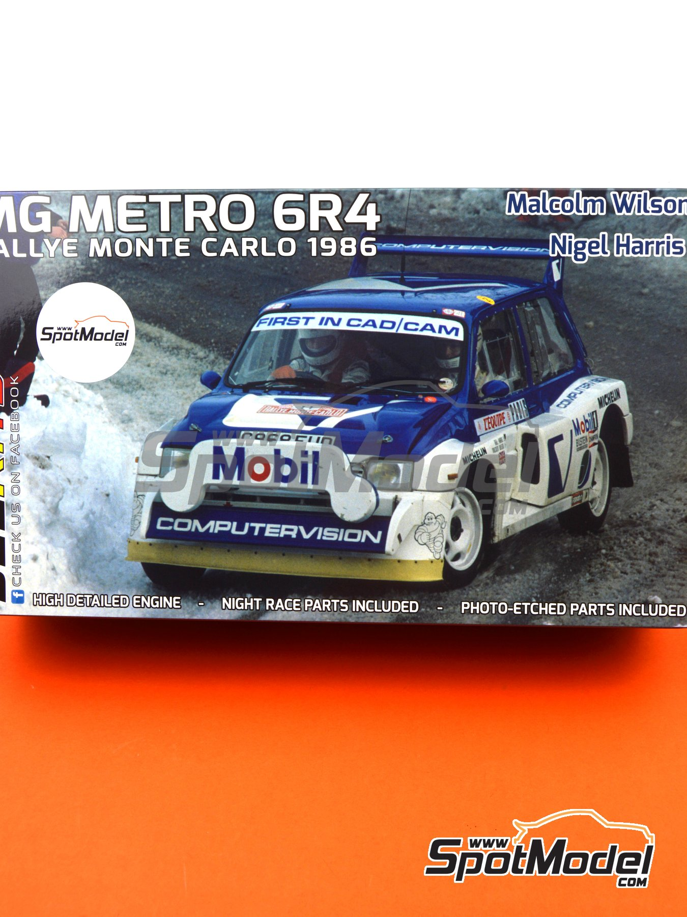 MG Metro 6R4 Group B Computervision - Montecarlo Rally - Rallye Automobile de Monte-Carlo 1986 | Model car kit in 1/24 scale manufactured by Belkits (ref. BEL015, also BEL-015) image