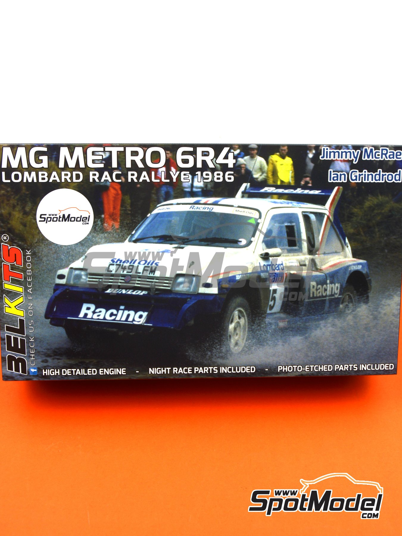 MG Metro 6R4 Group B Rothmans Racing - Lombard RAC Rally 1986   Model car kit in 1/24 scale manufactured by Belkits (ref.BEL016, also BEL-016) image