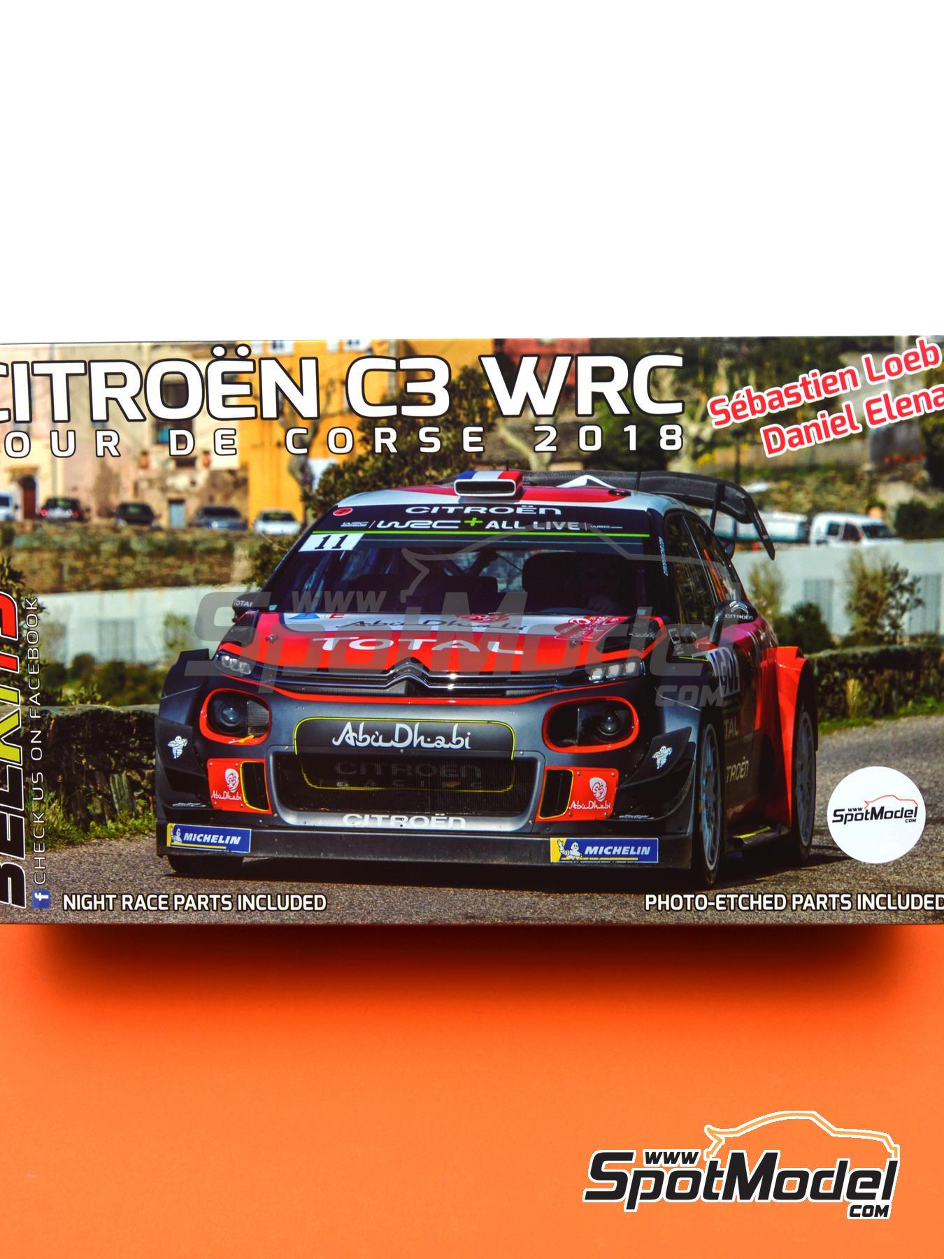 Citroën C3 WRC -  2018 | Maqueta de coche en escala1/24 fabricado por Belkits (ref.BEL017, tambien BEL-017) image