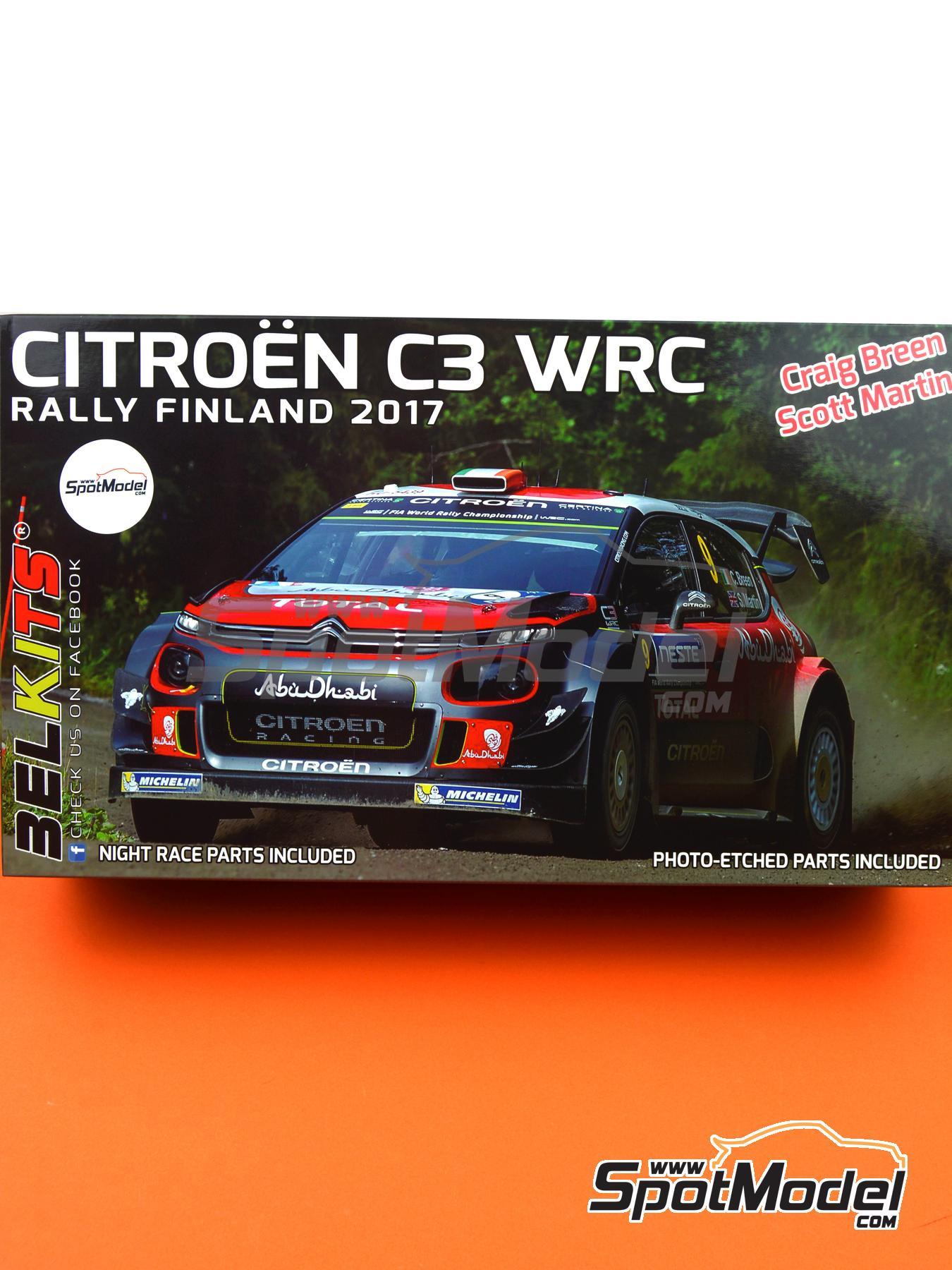 Citroën C3 WRC -  2018 | Model car kit in 1/24 scale manufactured by Belkits (ref.BEL018, also BEL-018) image