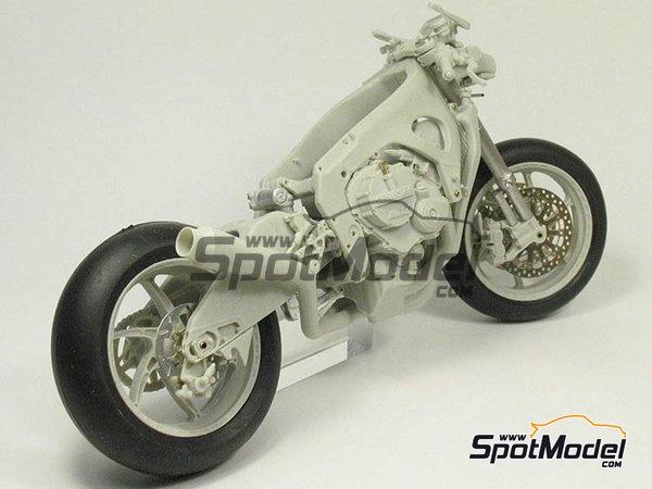 Image 19: Suter MMX 600cc Moto2 -  2010 | Model bike kit in 1/12 scale manufactured by BolidItalia Bikes Models (ref.BLDTL-FK01)