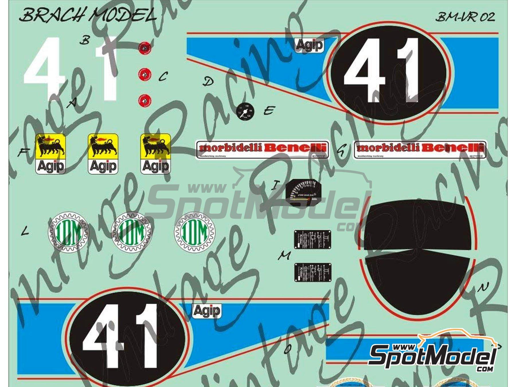Image 3: Morbidelli 125cc - Motorcycle World Championship 1976 | Model bike kit in 1/12 scale manufactured by Brach Model (ref.BM-VR02)