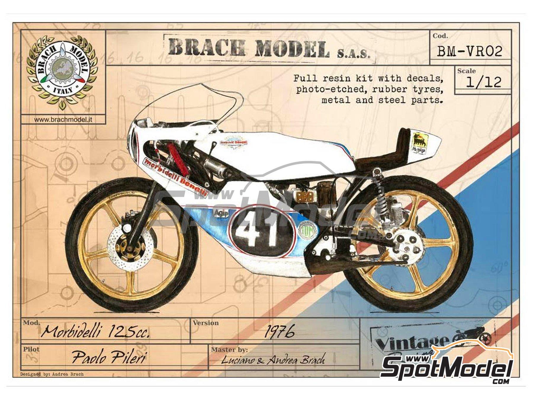 Image 4: Morbidelli 125cc - Motorcycle World Championship 1976 | Model bike kit in 1/12 scale manufactured by Brach Model (ref.BM-VR02)