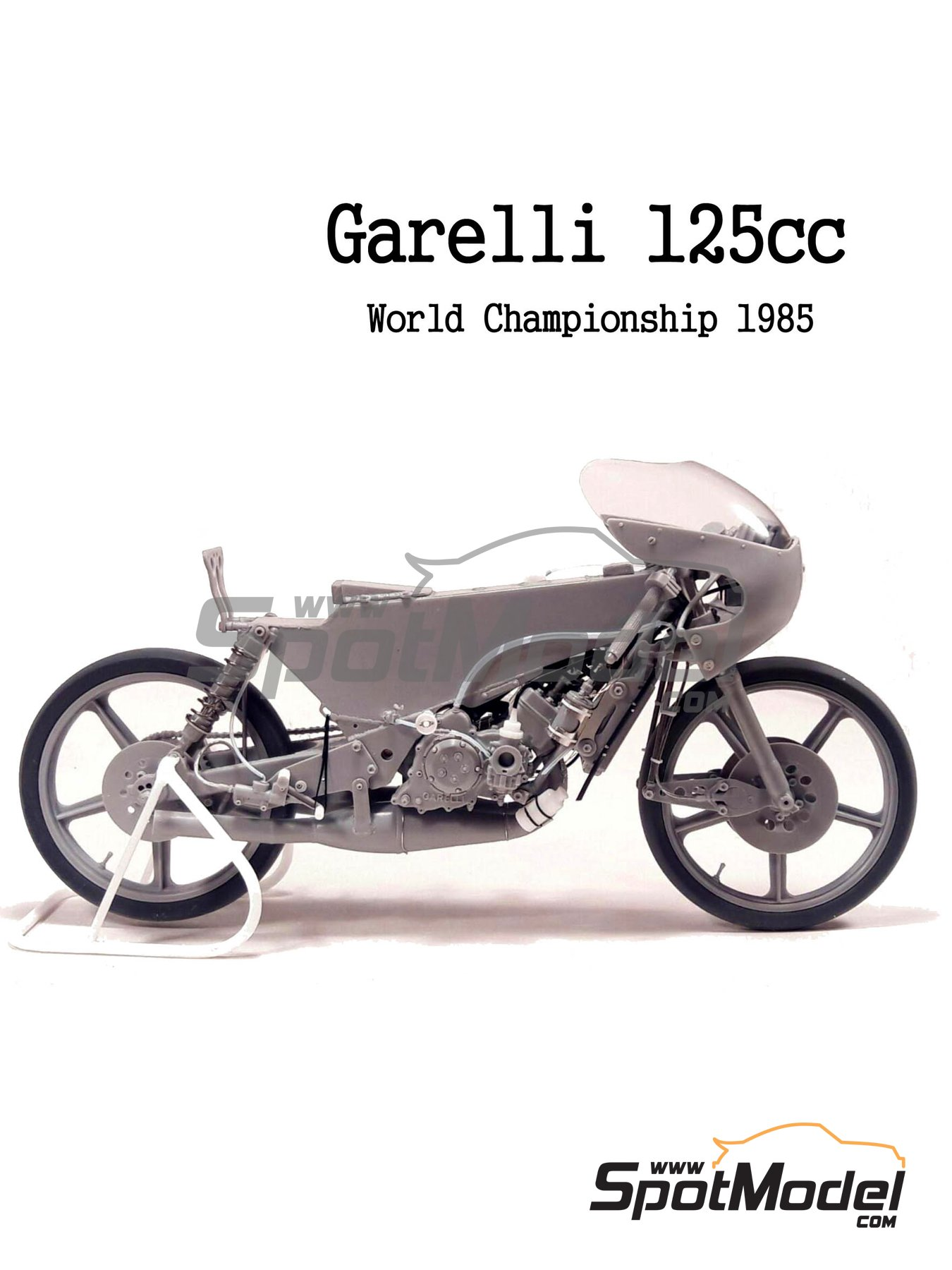 Garelli 125cc MDS - Motorcycle World Championship 1985 | Model bike kit in 1/12 scale manufactured by Brach Model (ref. BM-VR03) image