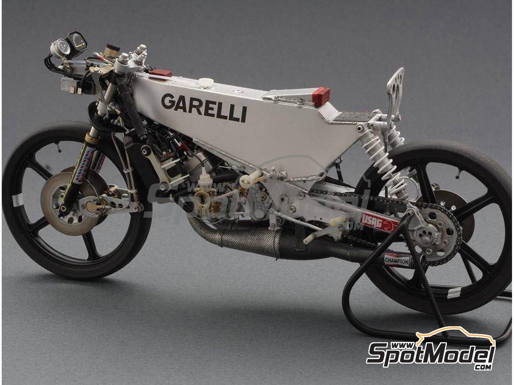 Image 14: Garelli 125cc MDS - Campeonato del Mundo de Motociclismo 1985 | Maqueta de moto en escala1/12 fabricado por Brach Model (ref.BM-VR03)
