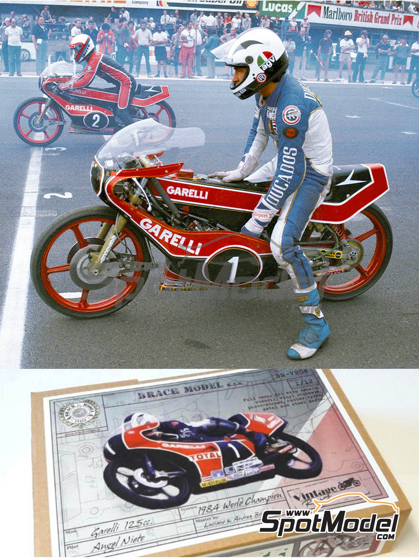 Garelli 125cc - Motorcycle World Championship 1984 | Model bike kit in 1/12 scale manufactured by Brach Model (ref. BM-VR04) image