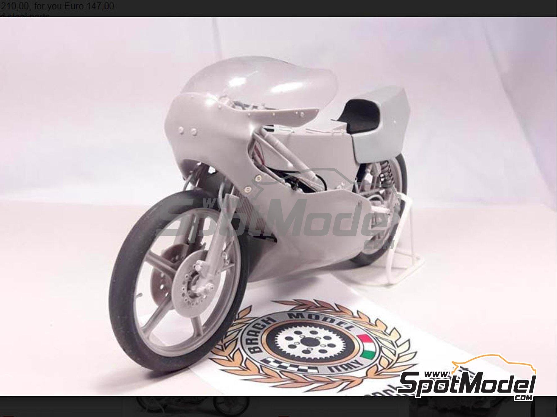 Image 6: Minarelli 125cc - Motorcycle World Championship 1981 | Model bike kit in 1/12 scale manufactured by Brach Model (ref.BM-VR05)