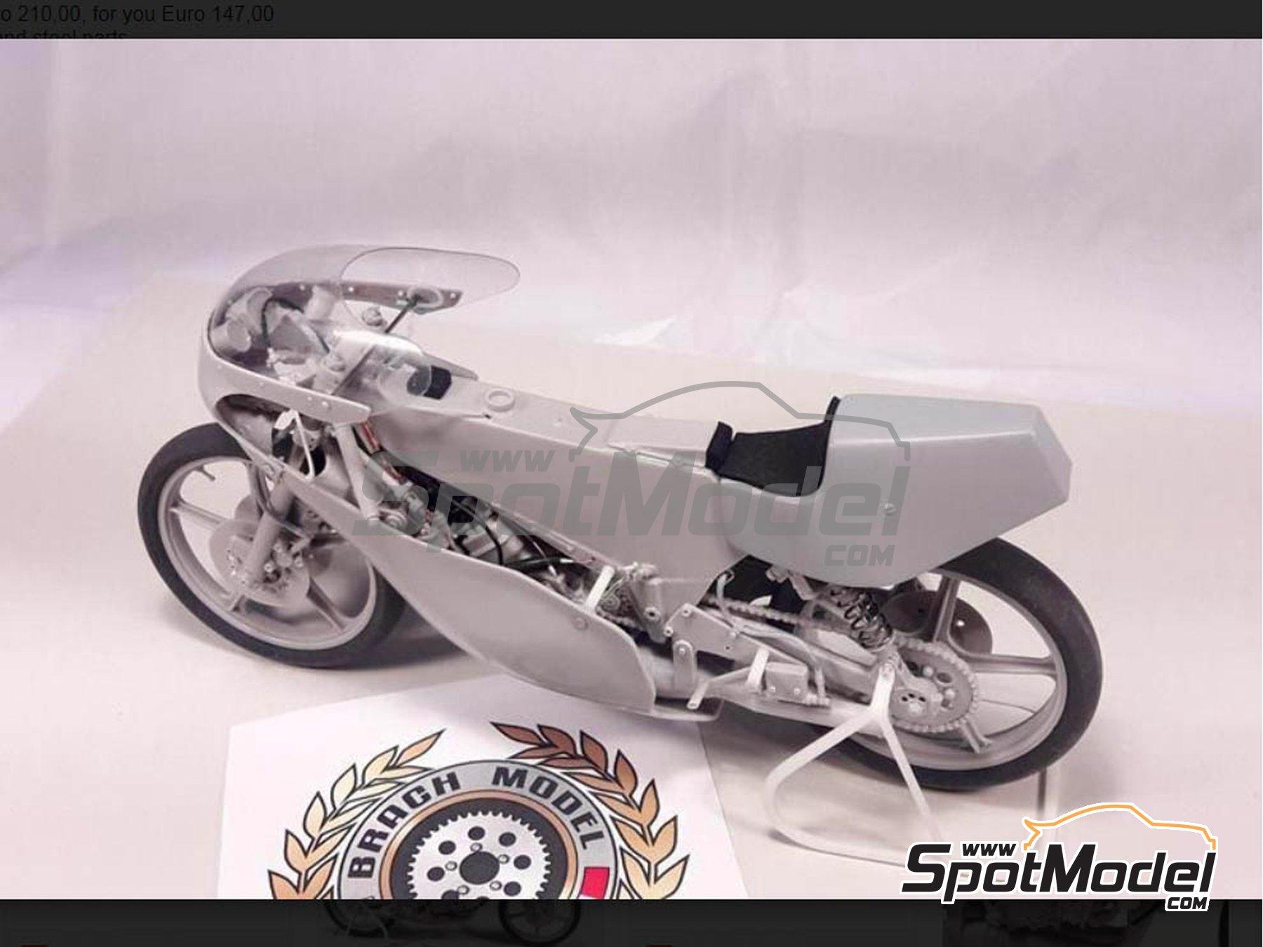 Image 7: Minarelli 125cc - Campeonato del Mundo de Motociclismo 1981 | Maqueta de moto en escala1/12 fabricado por Brach Model (ref.BM-VR05)