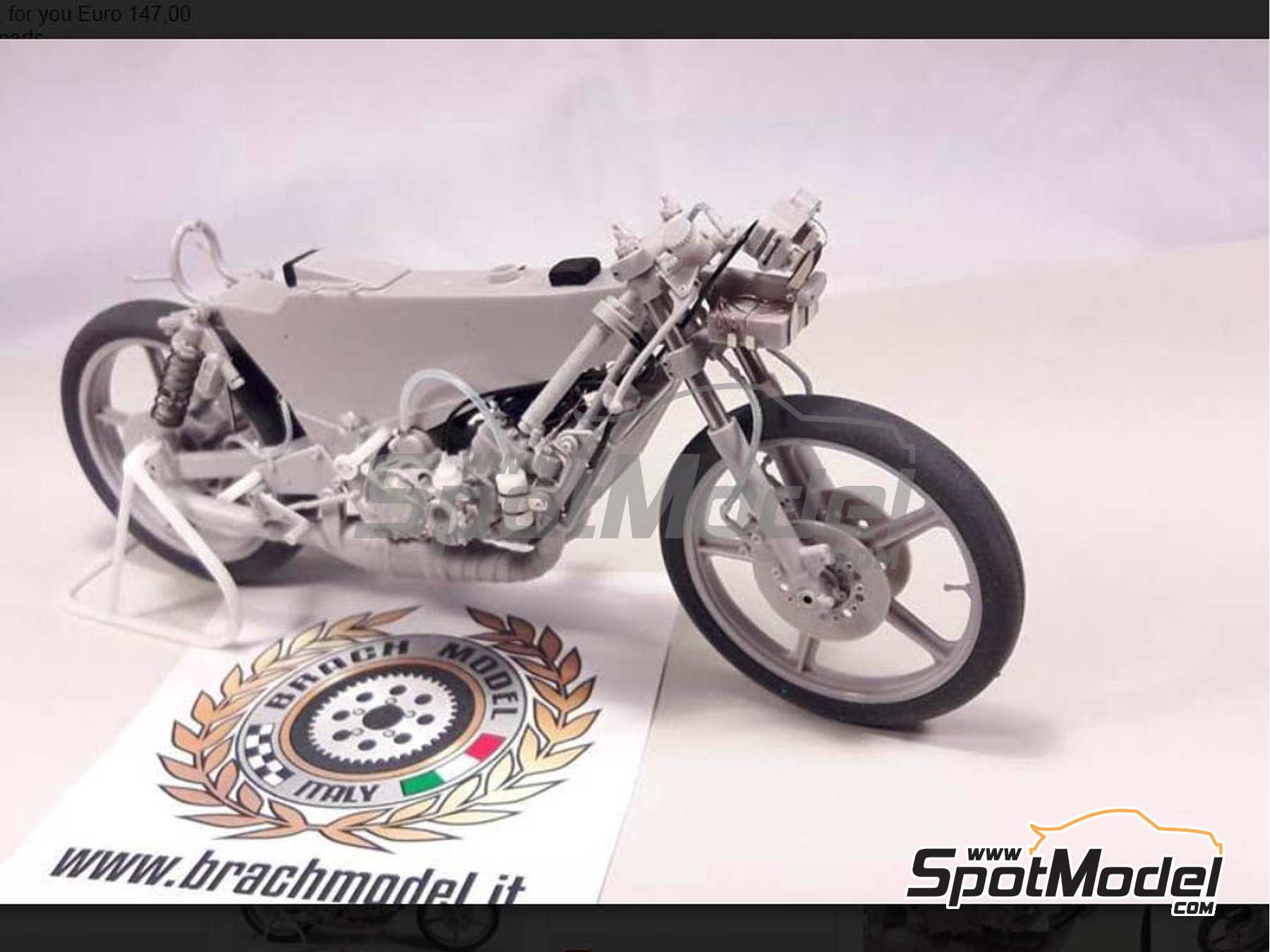 Image 10: Minarelli 125cc - Motorcycle World Championship 1981 | Model bike kit in 1/12 scale manufactured by Brach Model (ref. BM-VR05)