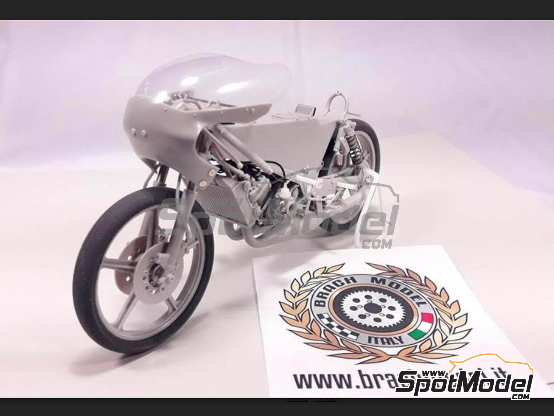 Image 14: Minarelli 125cc - Motorcycle World Championship 1981 | Model bike kit in 1/12 scale manufactured by Brach Model (ref. BM-VR06)