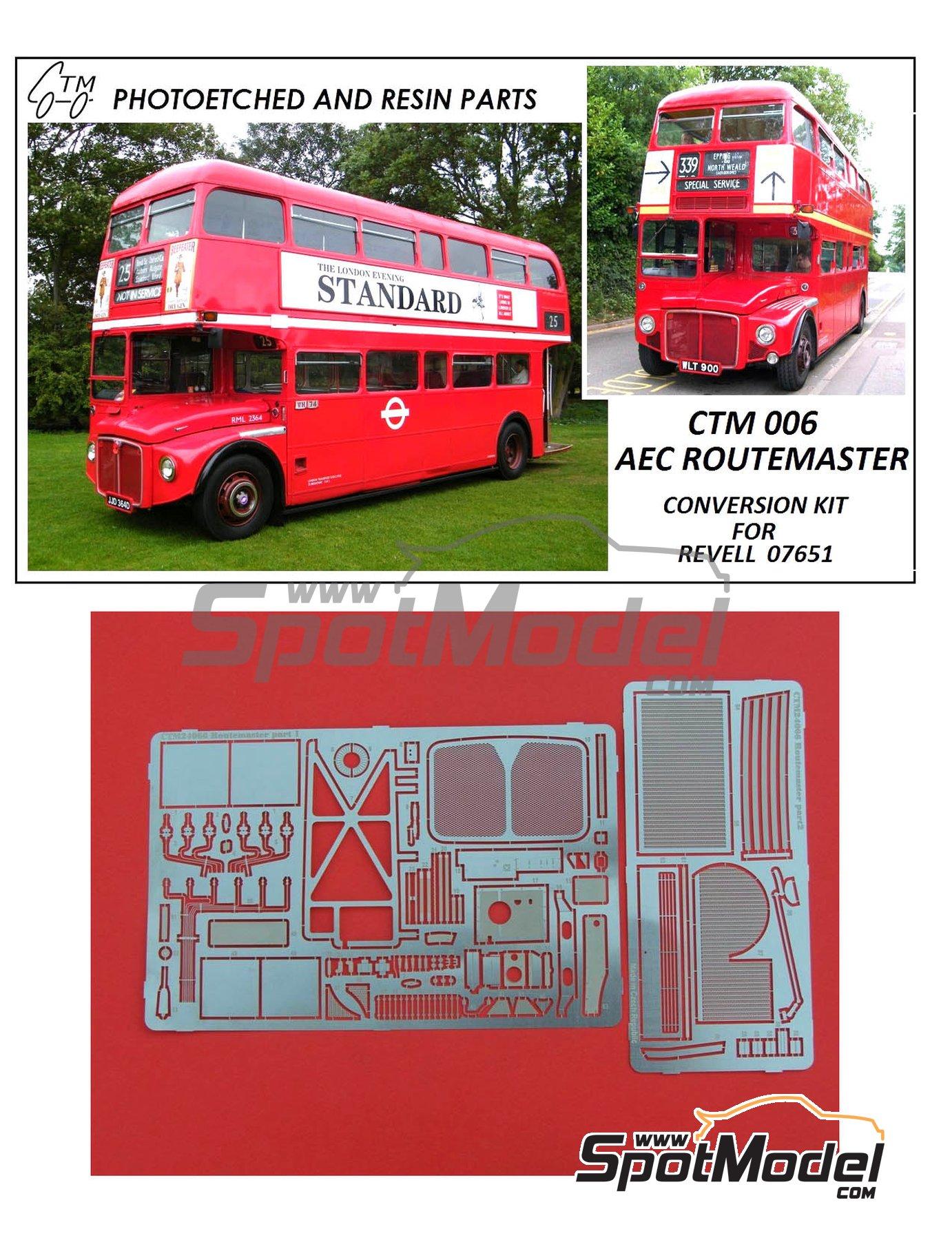 Routermaster bus de Londres | Set de mejora y detallado en escala1/24 fabricado por Czech Truck Model (ref.CTM006) image