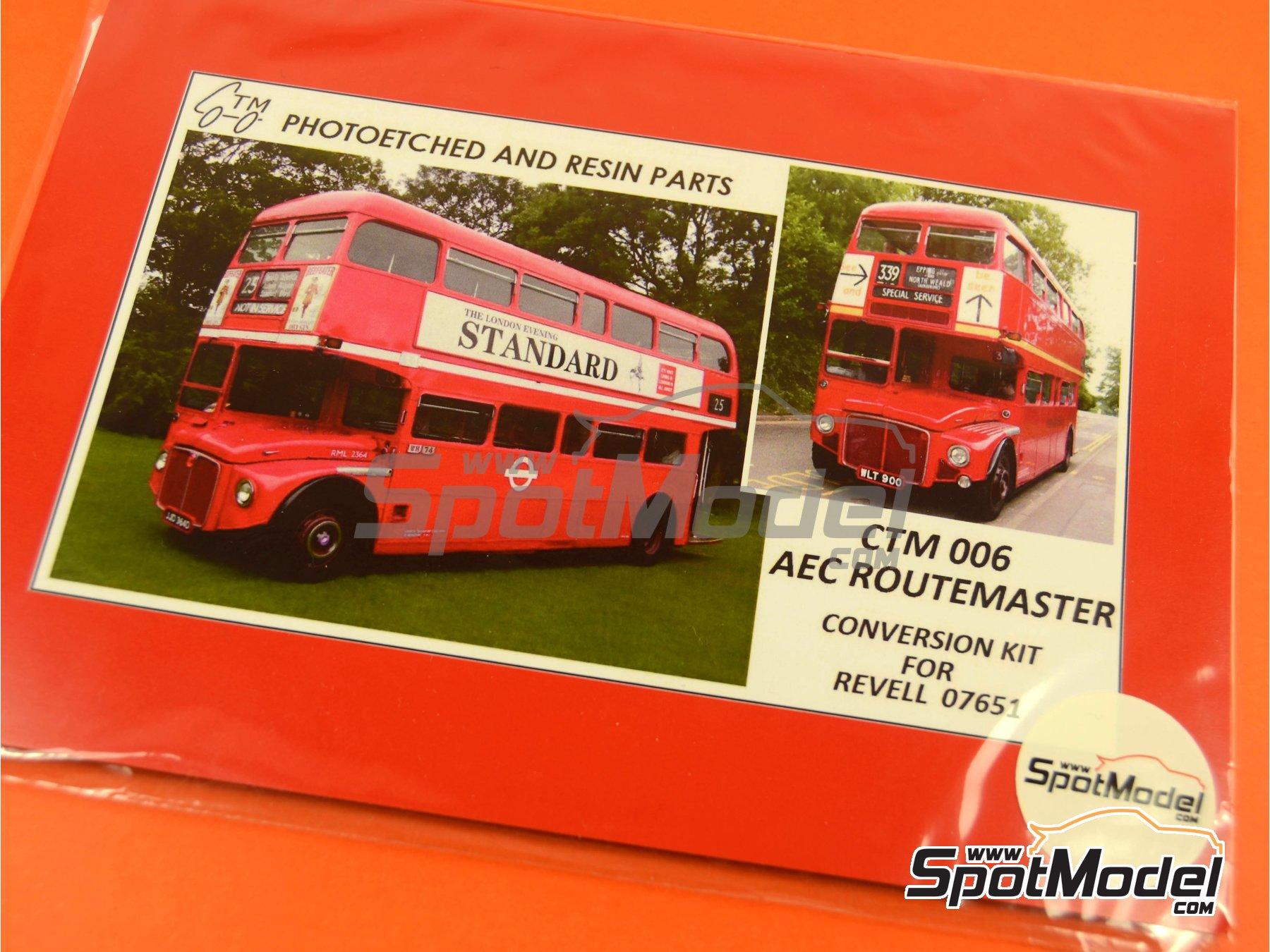 Image 5: Routermaster bus de Londres | Set de mejora y detallado en escala1/24 fabricado por Czech Truck Model (ref.CTM006)