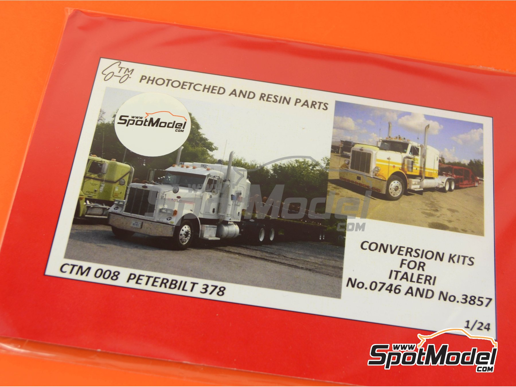 Image 5: Peterbilt 378 | Detail up set in 1/24 scale manufactured by Czech Truck Model (ref.CTM008)