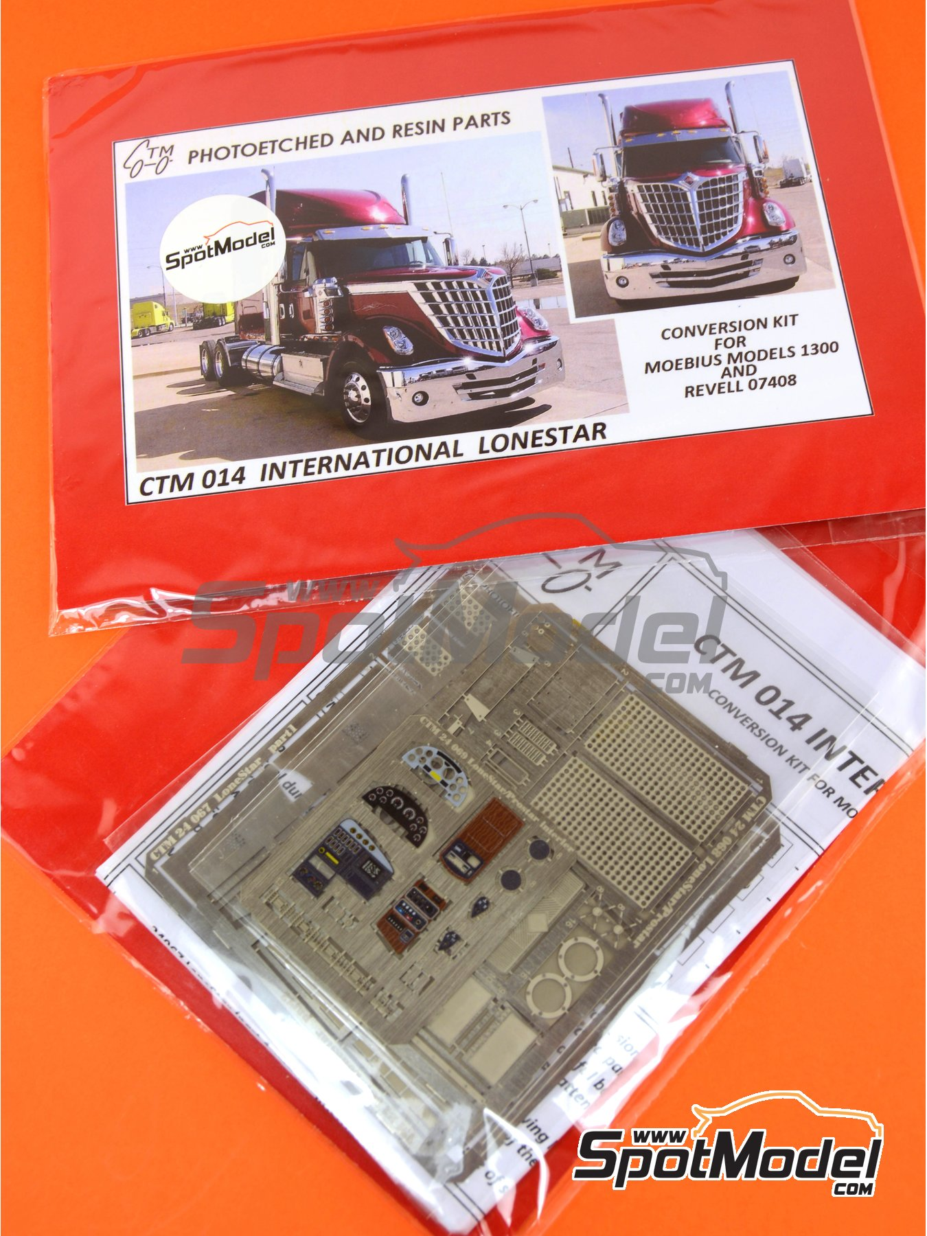 International LoneStar | Fotograbados en escala1/24 fabricado por Czech Truck Model (ref.CTM014) image