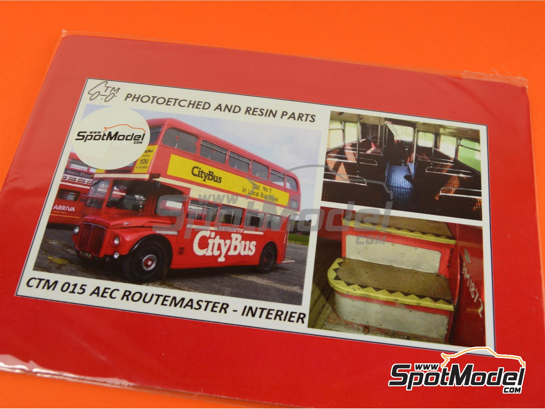 Image 1: London Routermaster bus | Detail up set in 1/24 scale manufactured by Czech Truck Model (ref.CTM015)