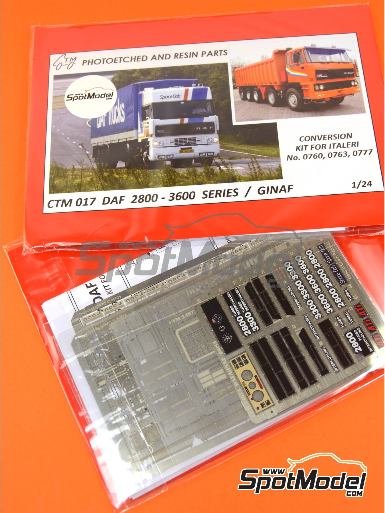 DAF 2800-3300-3600 / GINAF | Photo-etched parts in 1/24 scale manufactured by Czech Truck Model (ref. CTM017) image