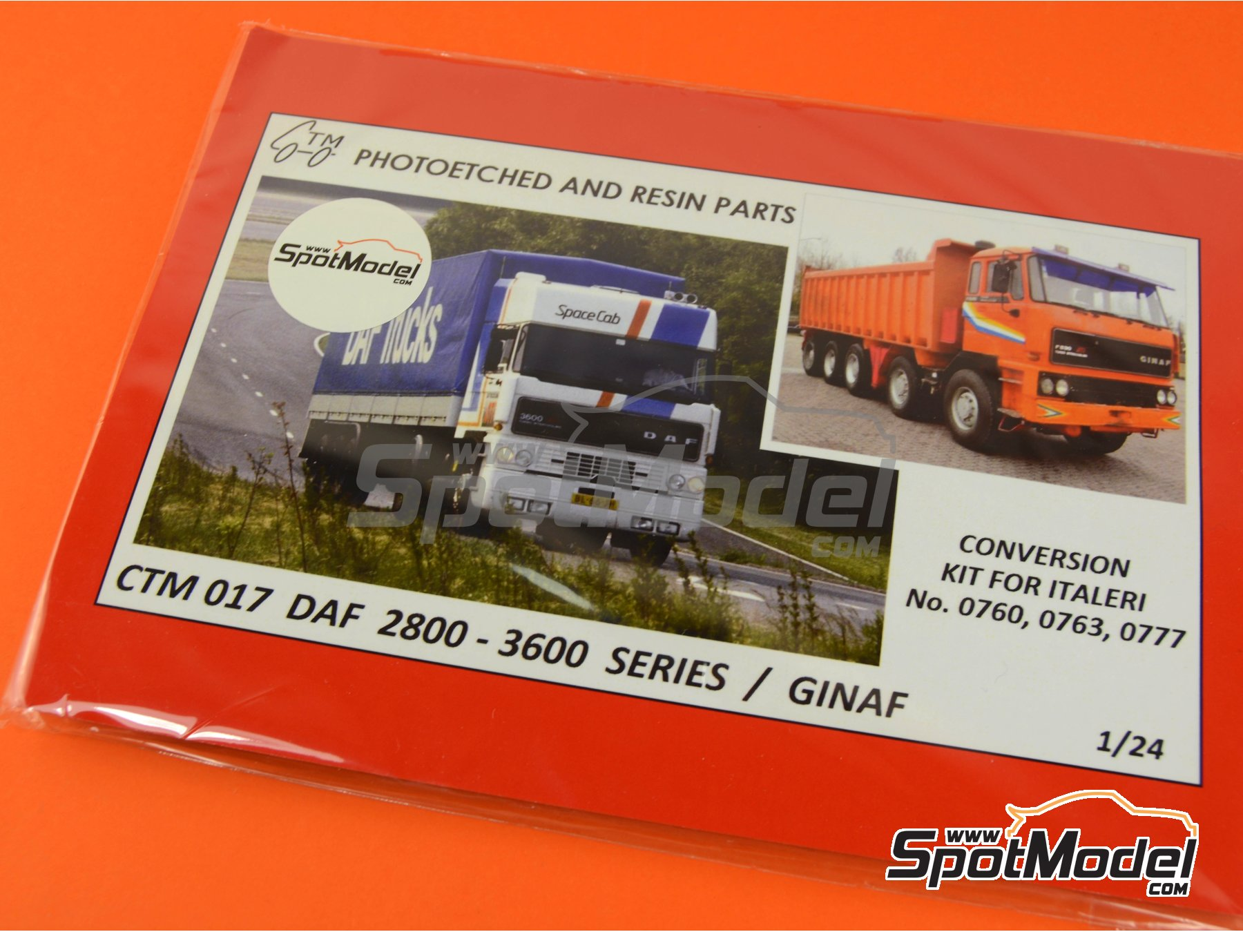 Image 4: DAF 2800-3300-3600 / GINAF | Photo-etched parts in 1/24 scale manufactured by Czech Truck Model (ref. CTM017)