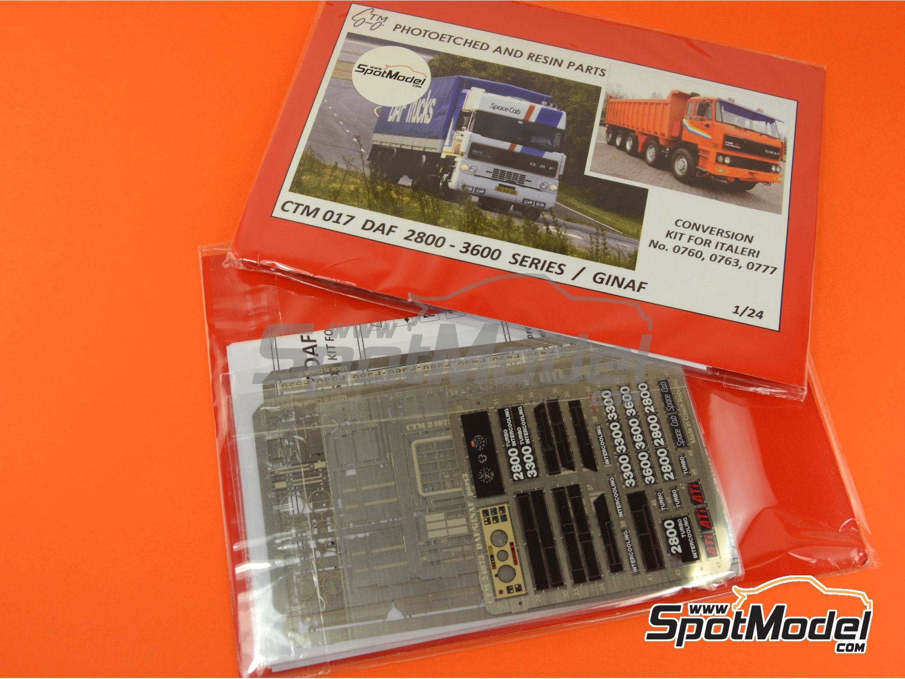Image 5: DAF 2800-3300-3600 / GINAF | Photo-etched parts in 1/24 scale manufactured by Czech Truck Model (ref. CTM017)