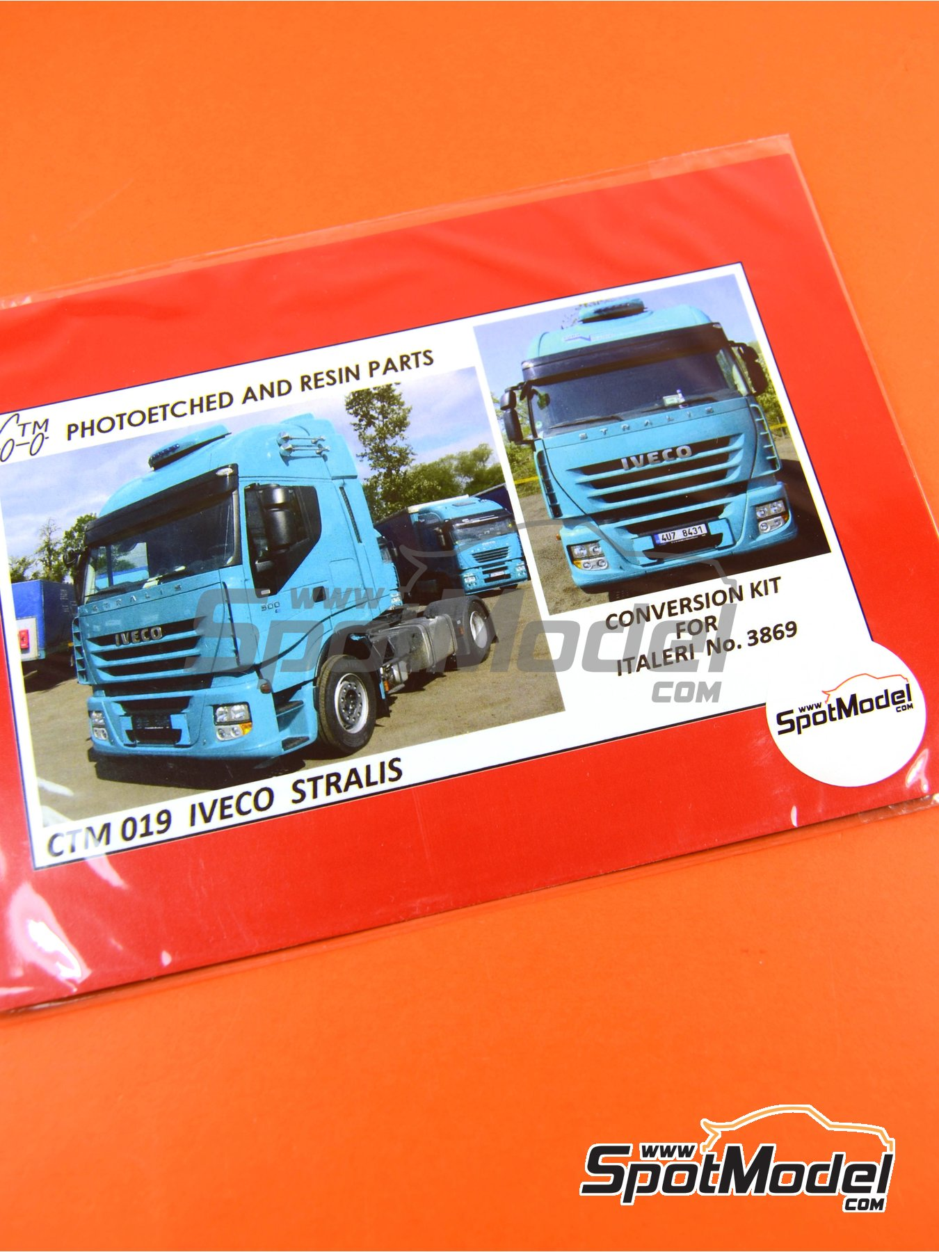 Iveco Stralis | Photo-etched parts in 1/24 scale manufactured by Czech Truck Model (ref.CTM019) image