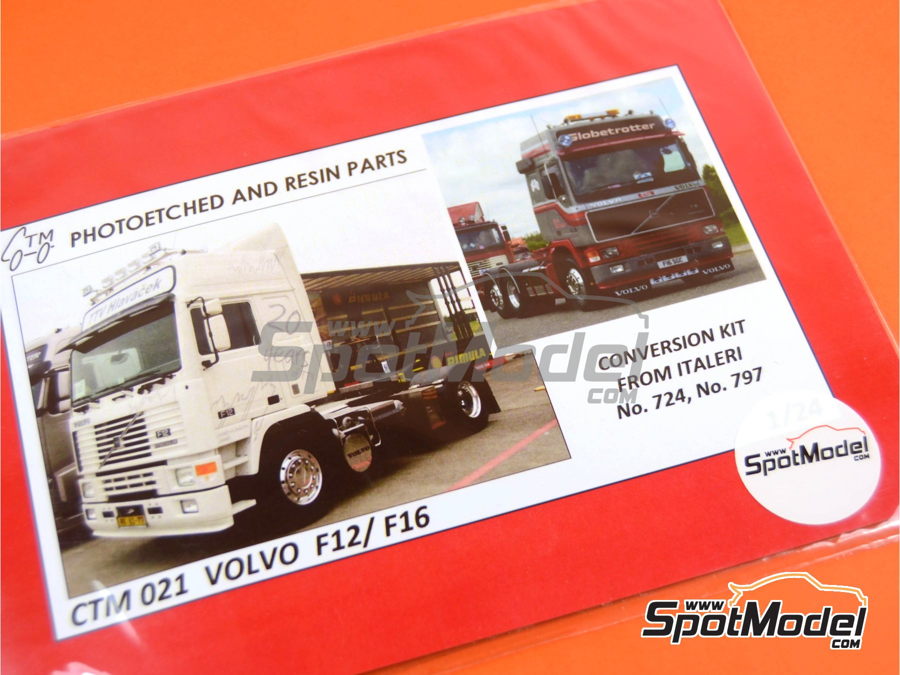 Image 5: Volvo F12 and Volvo F16 | Detail up set in 1/24 scale manufactured by Czech Truck Model (ref. CTM021)