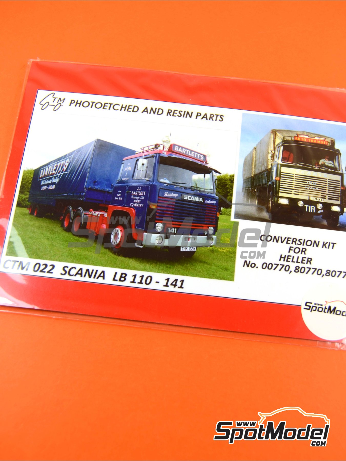 Scania LB 110-141 | Photo-etched parts in 1/24 scale manufactured by Czech Truck Model (ref. CTM022) image