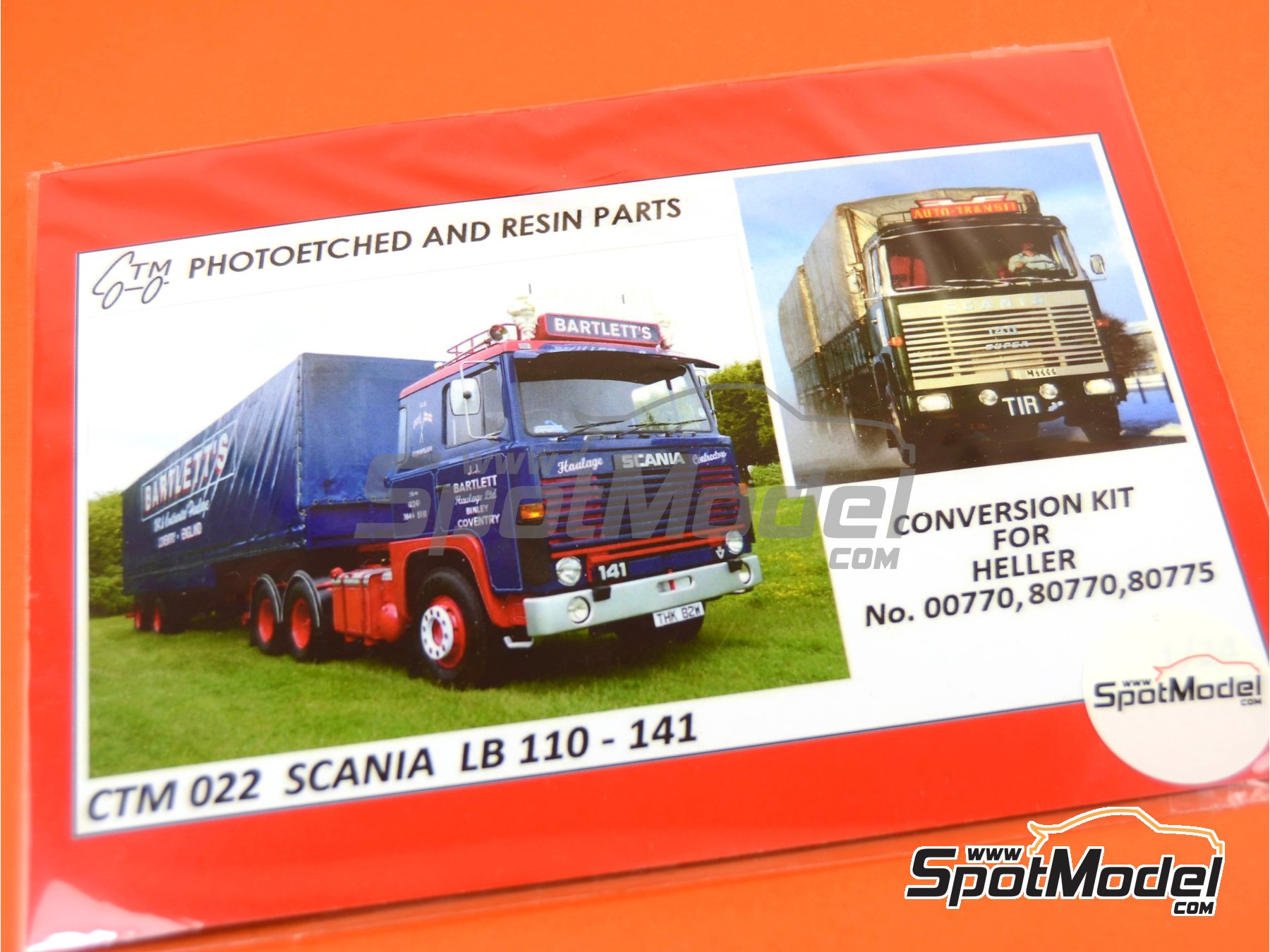 Image 1: Scania LB 110-141 | Photo-etched parts in 1/24 scale manufactured by Czech Truck Model (ref. CTM022)