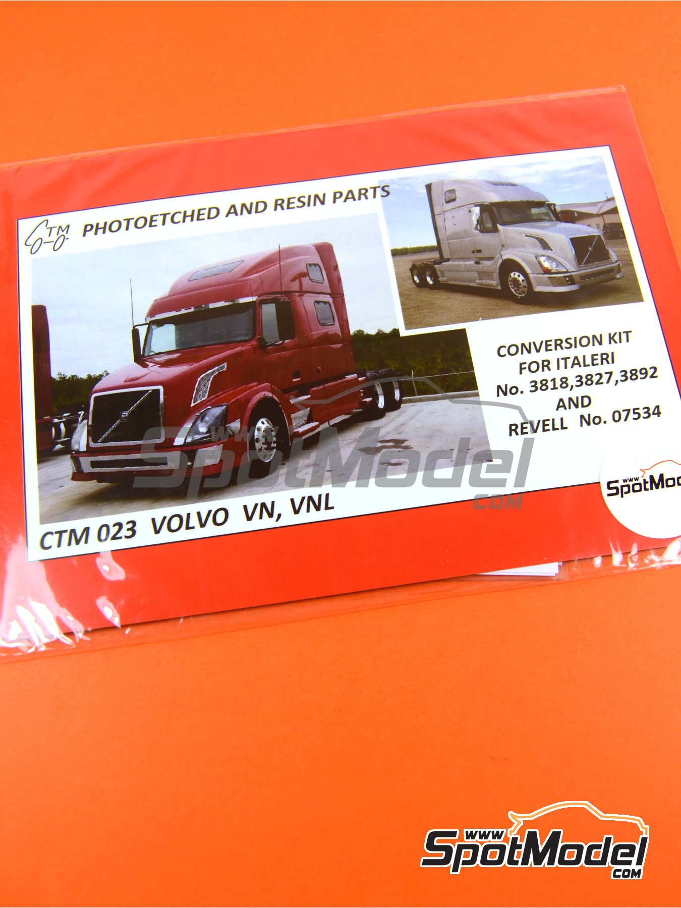 Volvo VN, VNL   Detail up set in 1/24 scale manufactured by Czech Truck Model (ref.CTM023) image