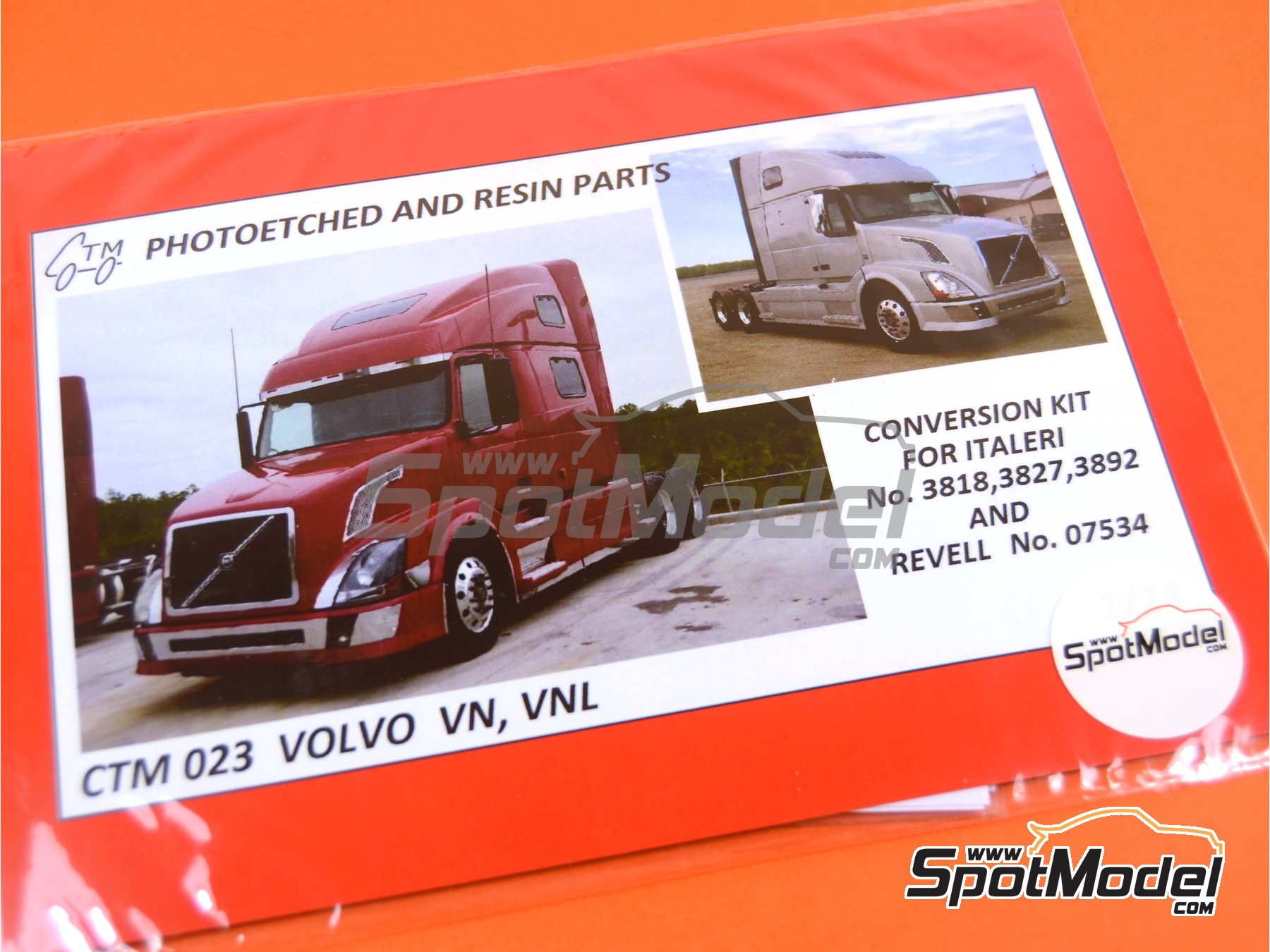 Image 5: Volvo VN, VNL   Detail up set in 1/24 scale manufactured by Czech Truck Model (ref.CTM023)